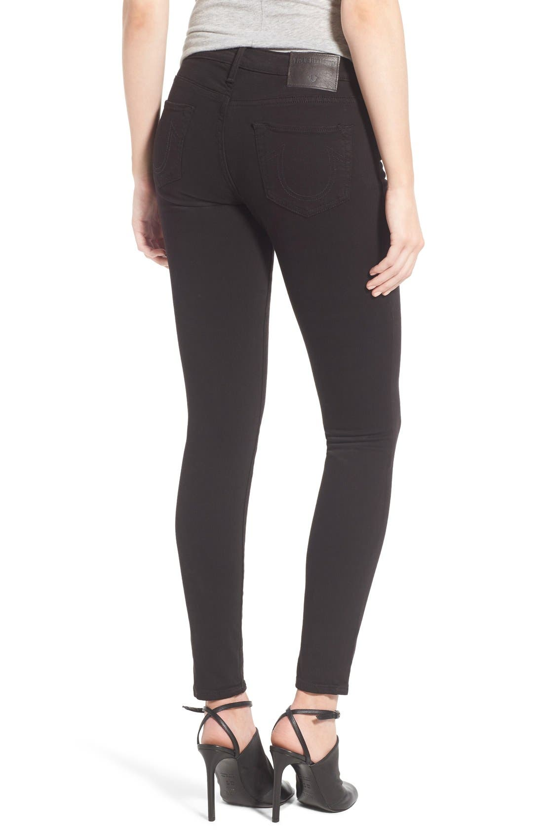 'Halle' Skinny Jeans,                             Alternate thumbnail 2, color,