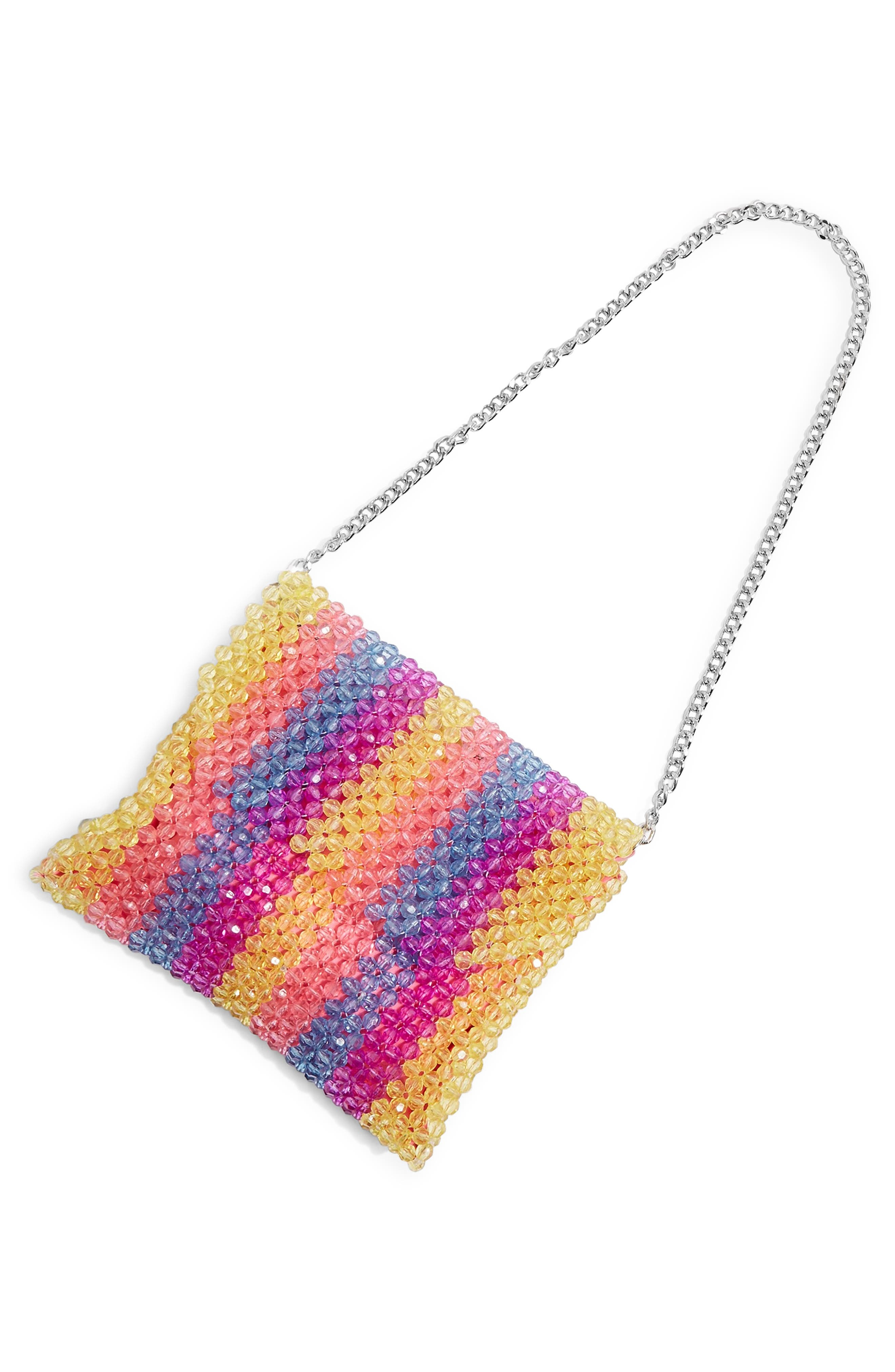 Zizi Beaded Shoulder Bag,                             Alternate thumbnail 5, color,                             YELLOW MULTI