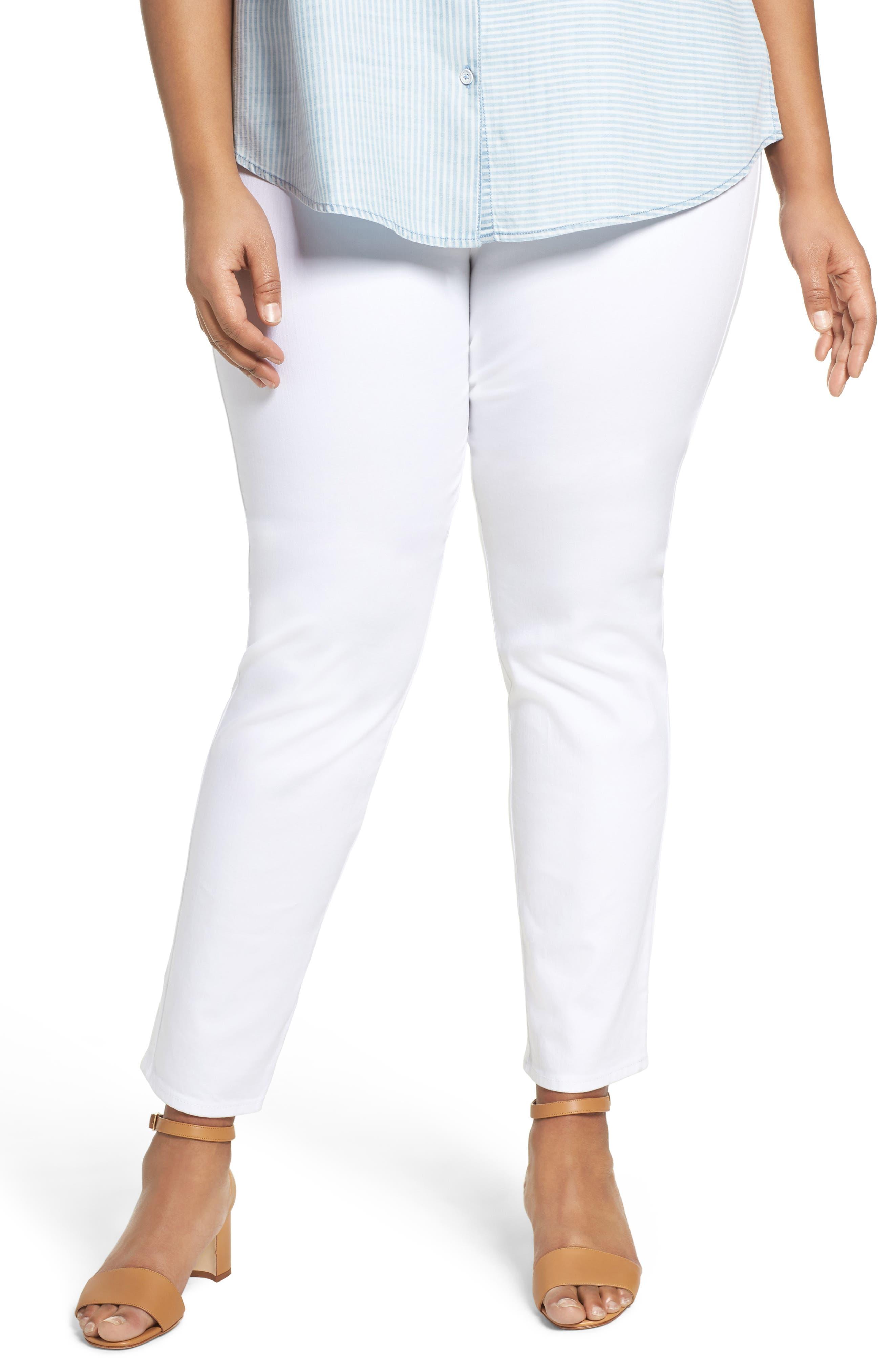 Nina Slimming Pull-On Legging Jeans,                         Main,                         color, WHITE