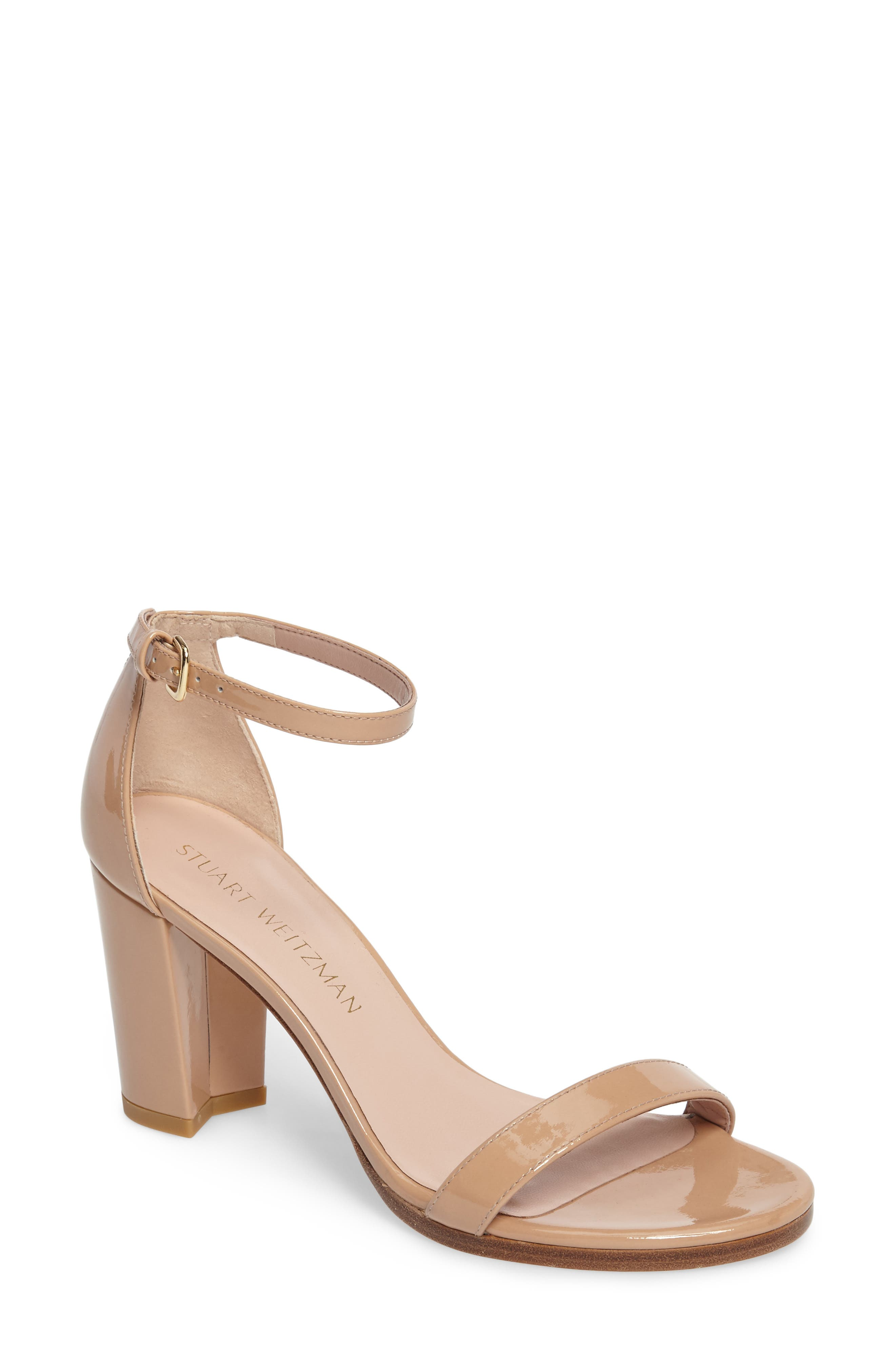 NearlyNude Ankle Strap Sandal,                         Main,                         color, ADOBE ANILINE