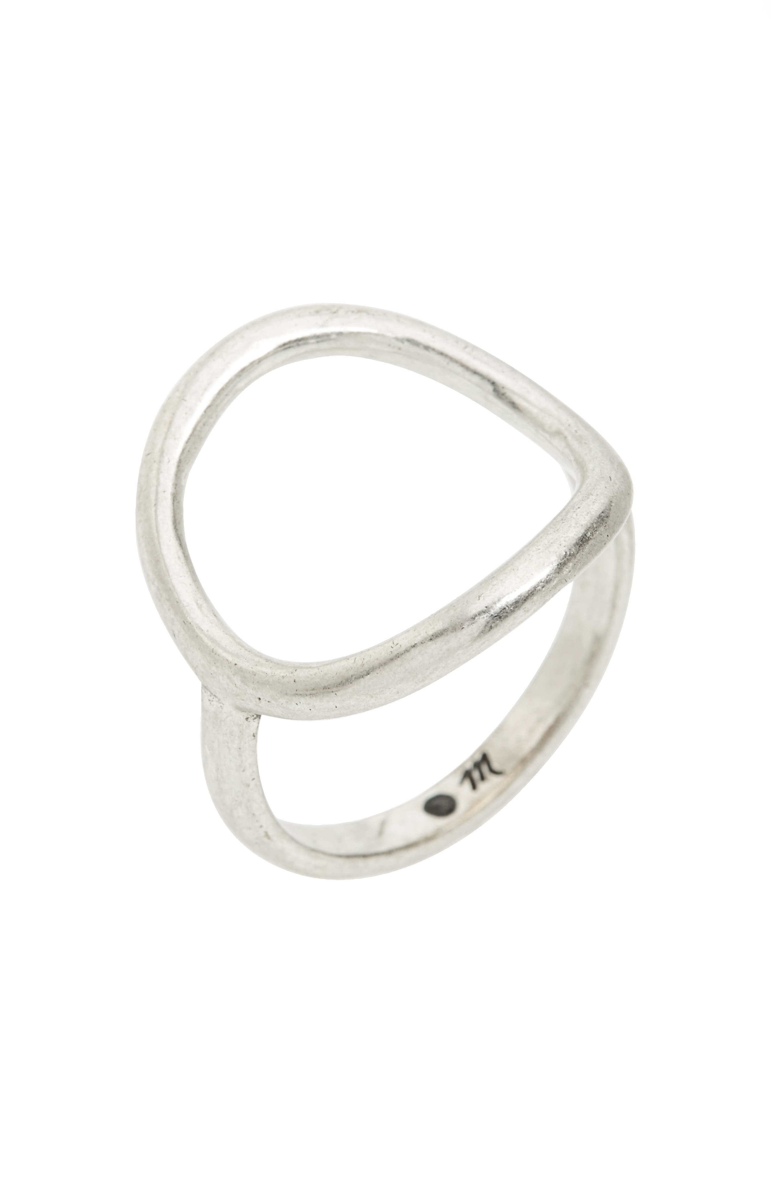 Ceremony Circle Ring,                             Alternate thumbnail 2, color,                             LIGHT SILVER OX