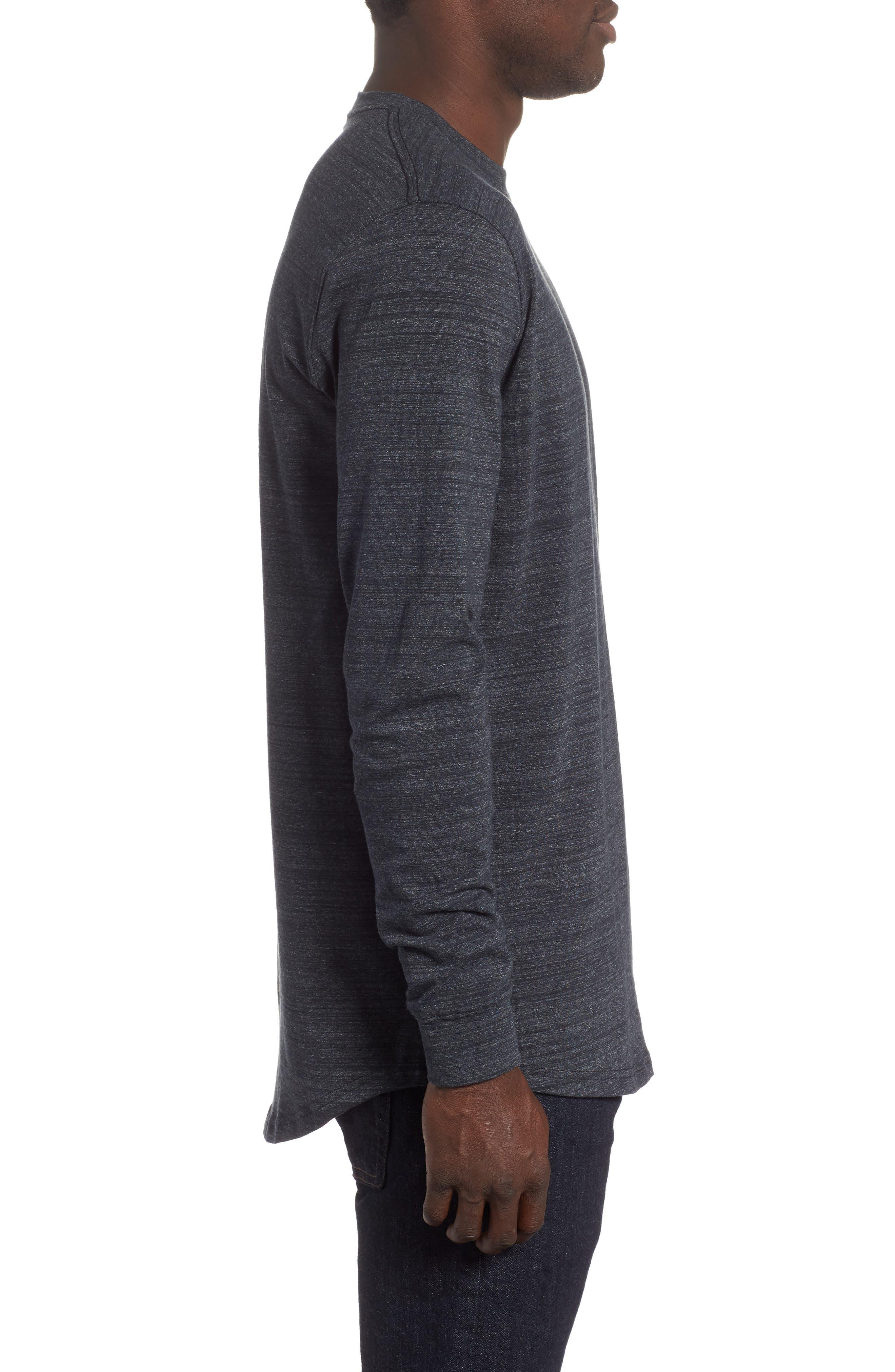 Sportstyle Long Sleeve Performance T-Shirt,                             Alternate thumbnail 3, color,                             BLACK/ STEEL