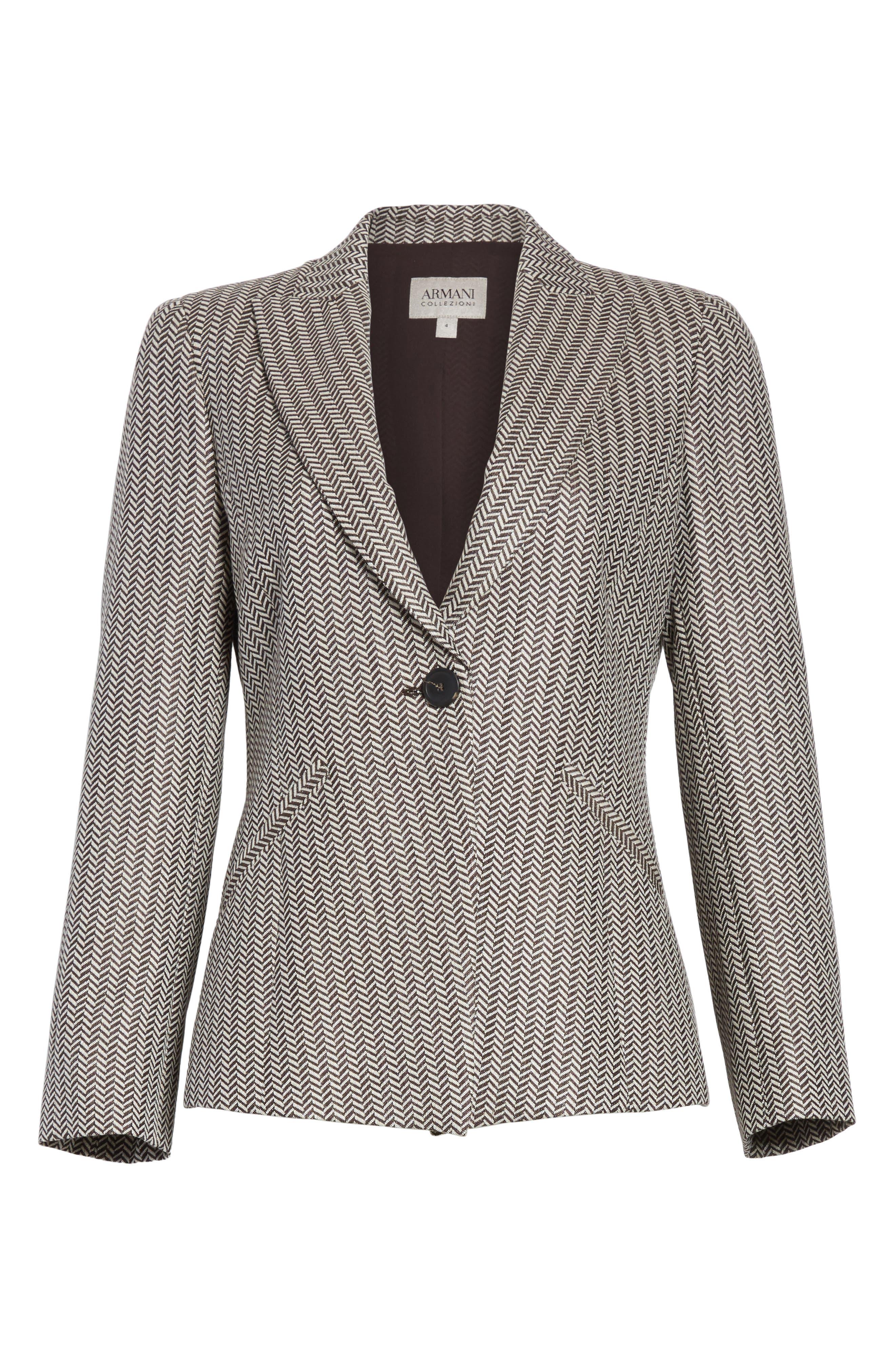 Mini Herringbone Jacket,                             Alternate thumbnail 5, color,
