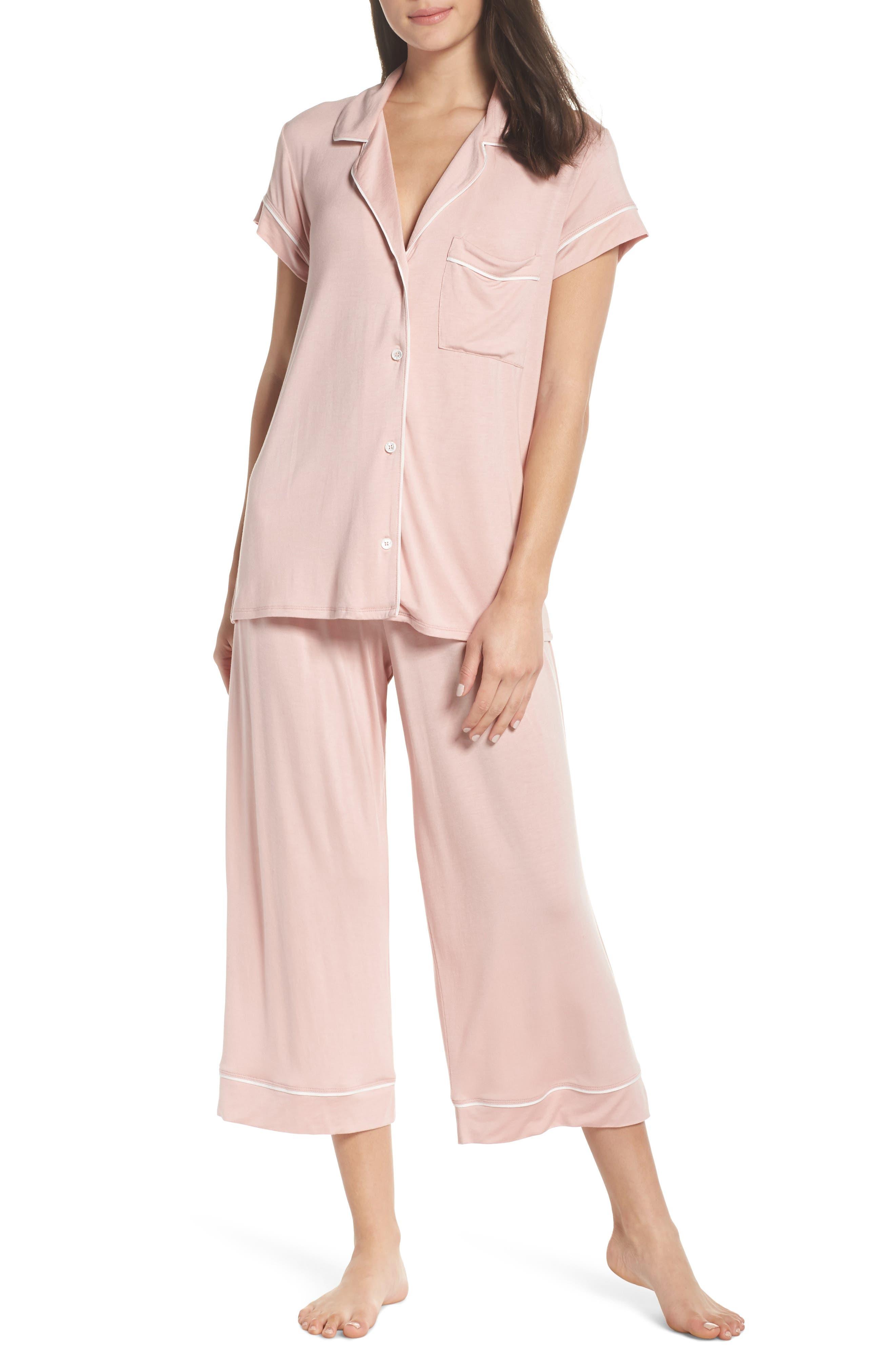 Gisele Crop Pajamas,                             Main thumbnail 1, color,