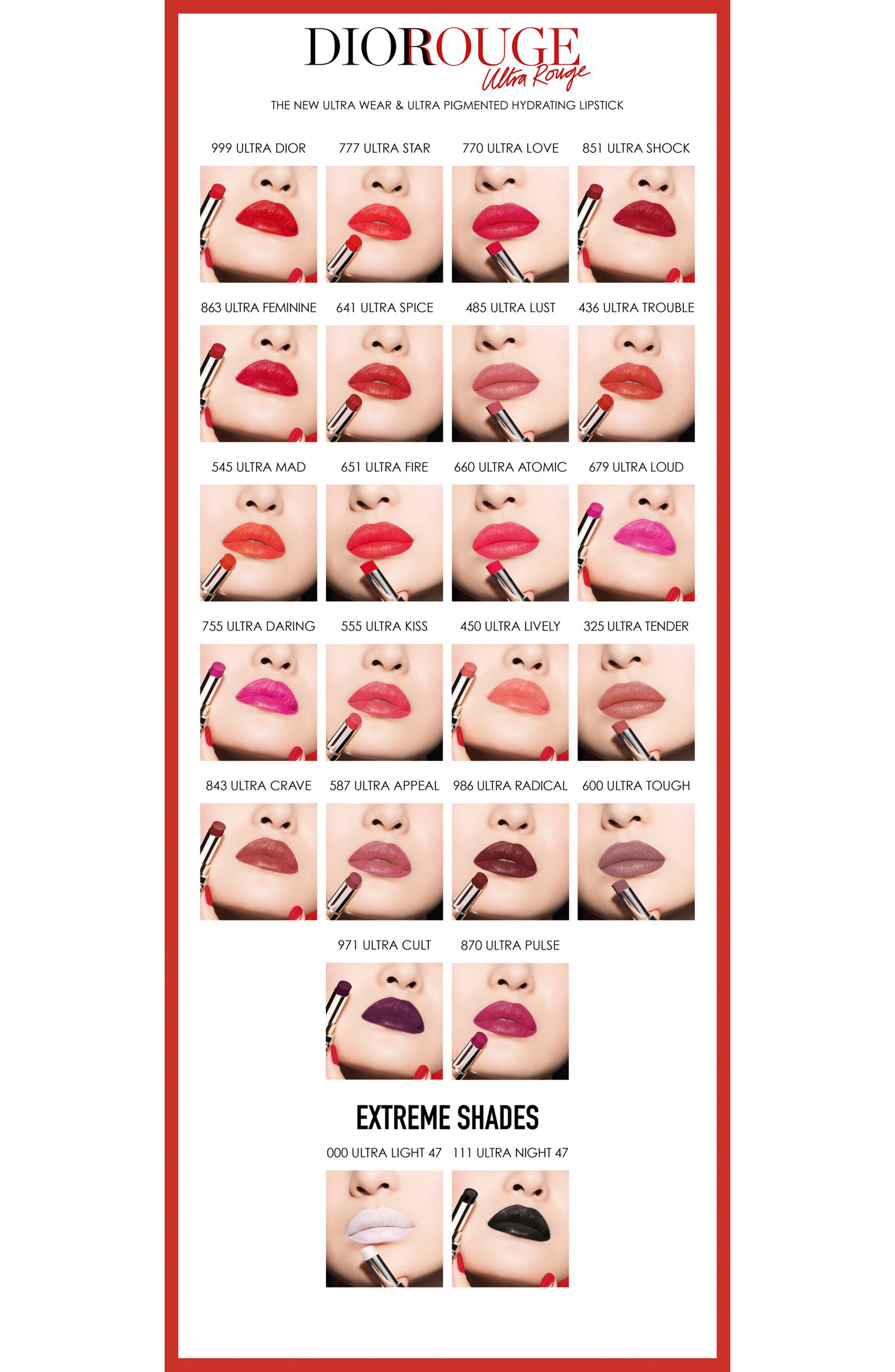 Rouge Dior Ultra Rouge Pigmented Hydra Lipstick,                             Alternate thumbnail 5, color,                             863 ULTRA FEMININE