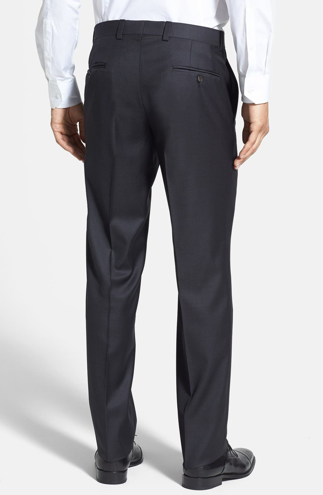 Jefferson Flat Front Wool Trousers,                             Alternate thumbnail 10, color,