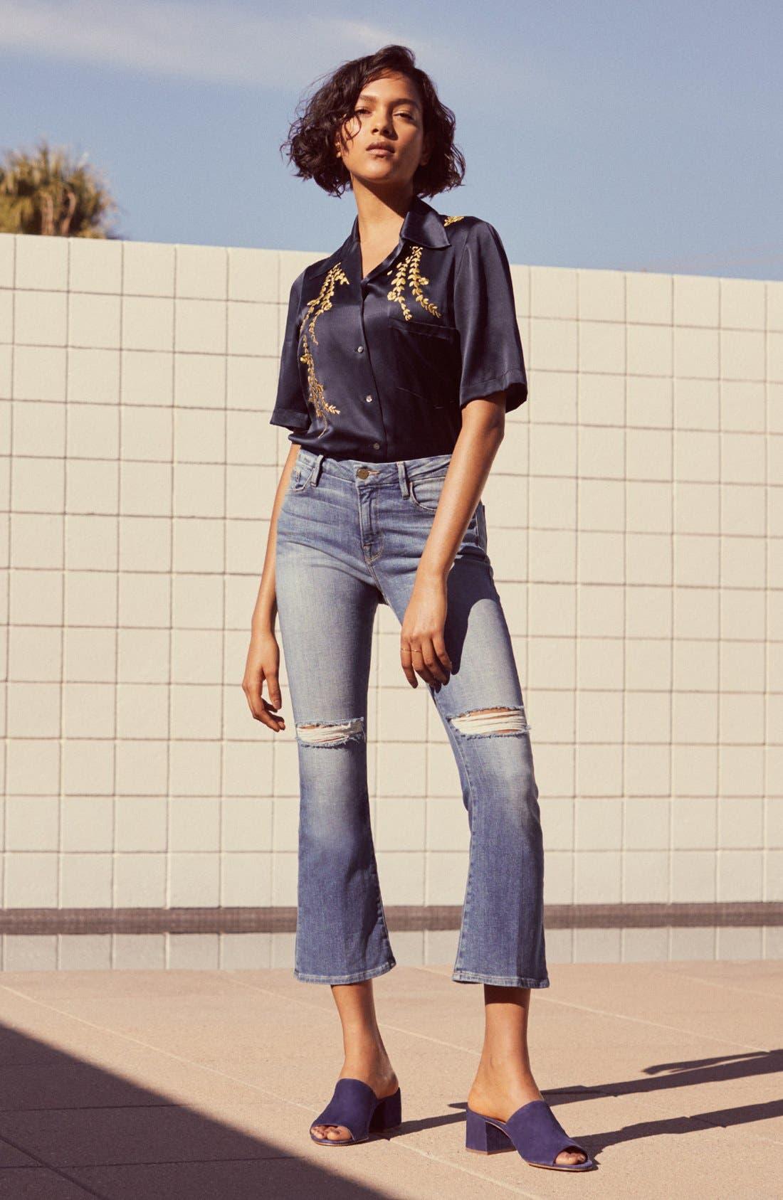 Le Crop Mini Boot Jeans,                             Alternate thumbnail 7, color,