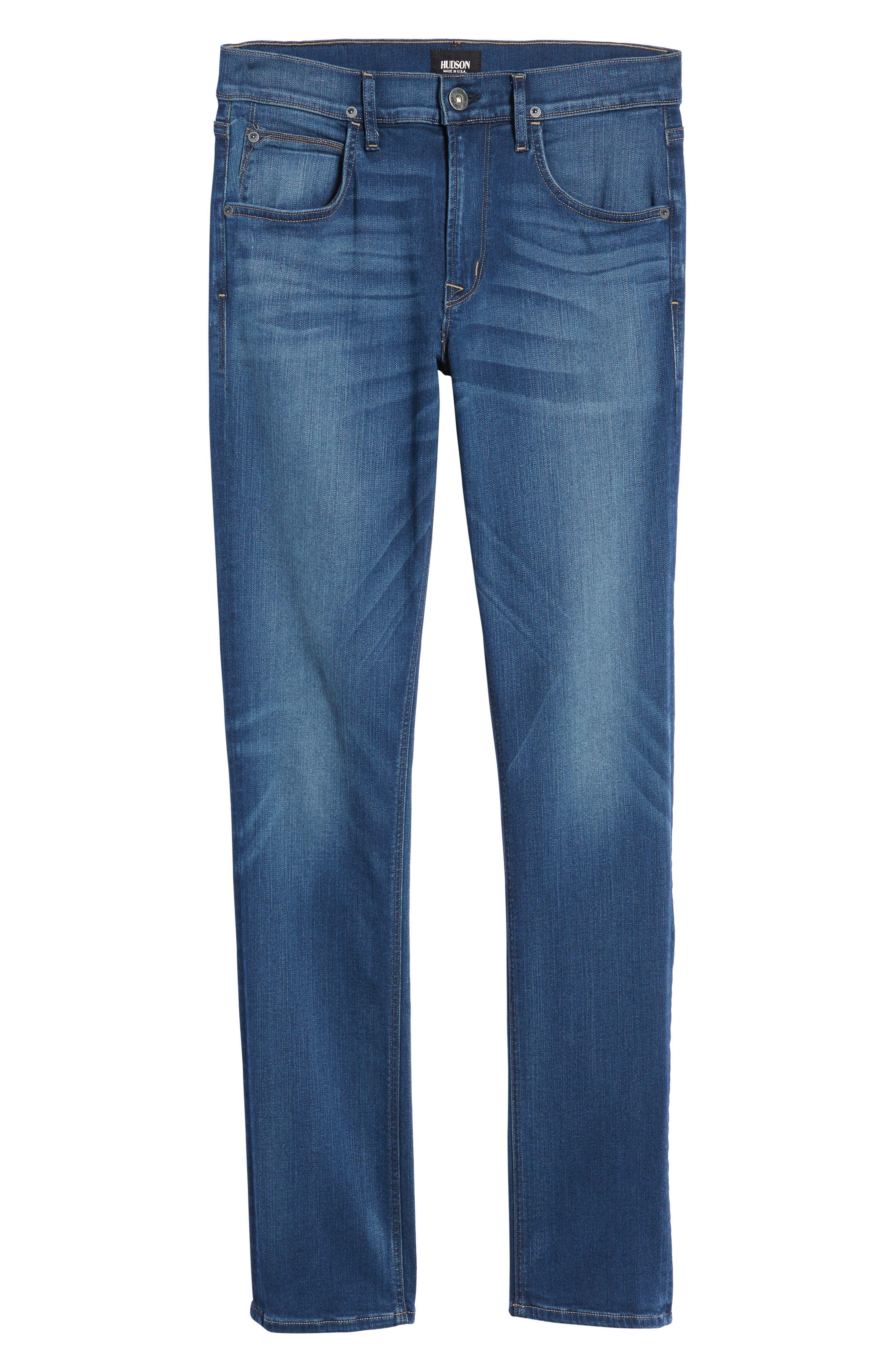 Hudson Blake Slim Fit Jeans,                             Alternate thumbnail 6, color,