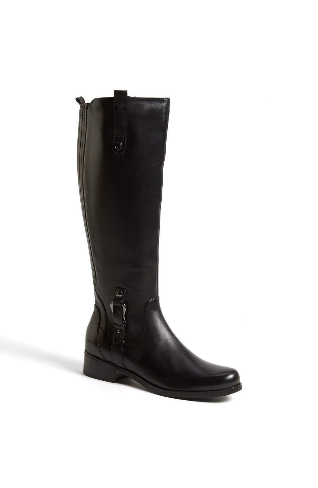'Venise' Waterproof Leather Riding Boot,                             Main thumbnail 1, color,                             001