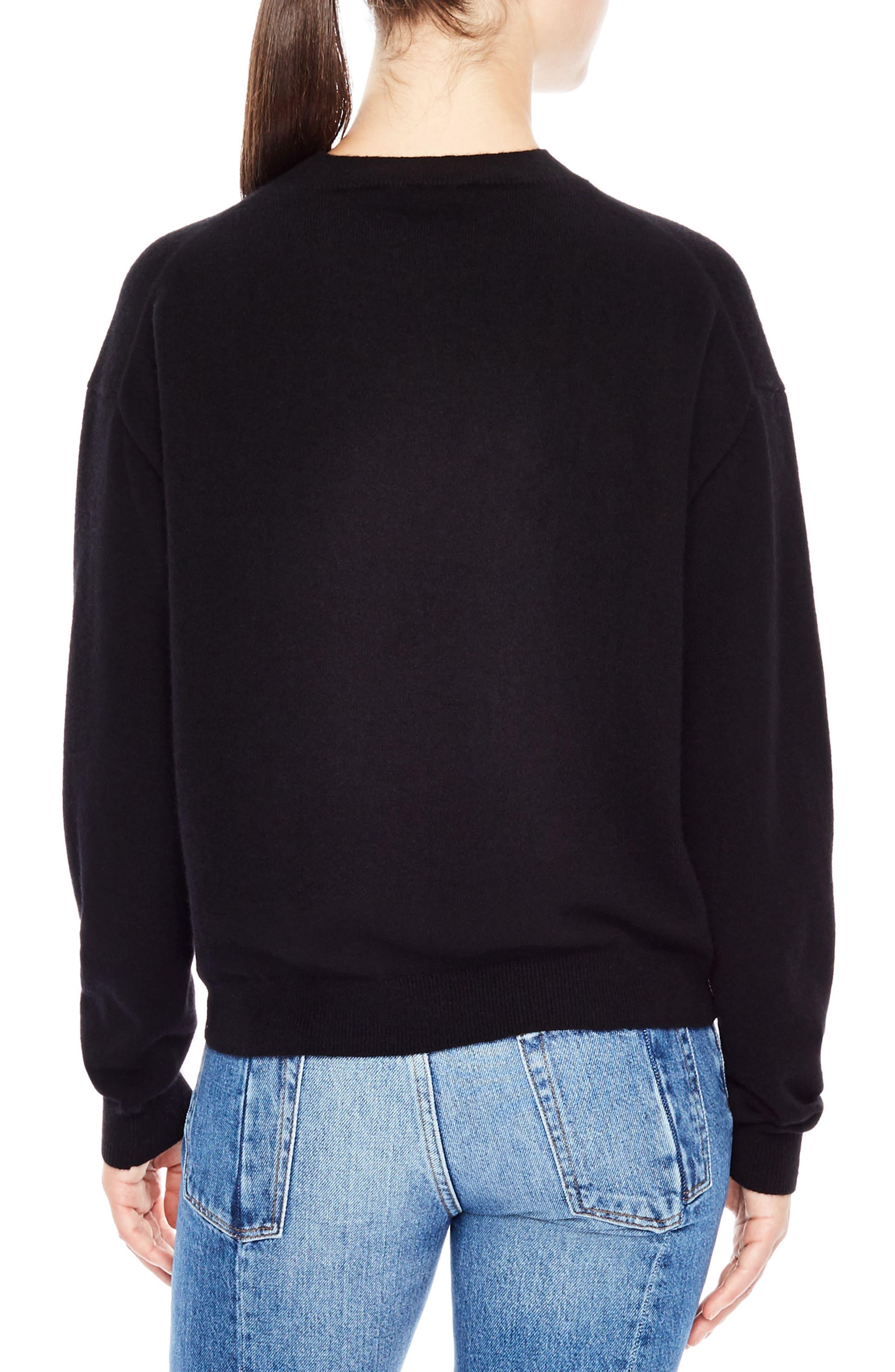 Rupert Just Love U Wool & Cashmere Sweater,                             Alternate thumbnail 2, color,                             001