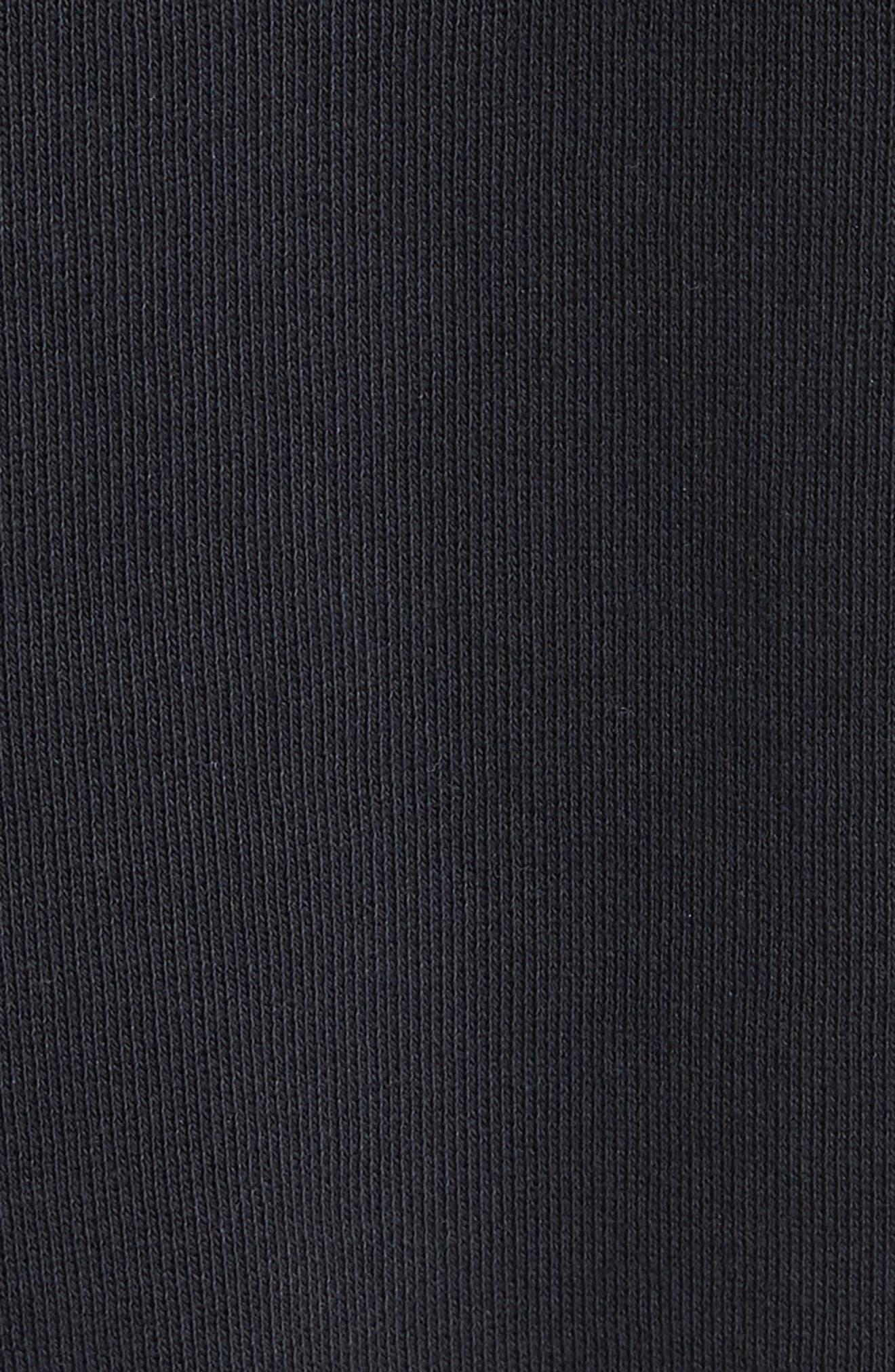 Flower Tape Crop Sweatshirt,                             Alternate thumbnail 5, color,                             001