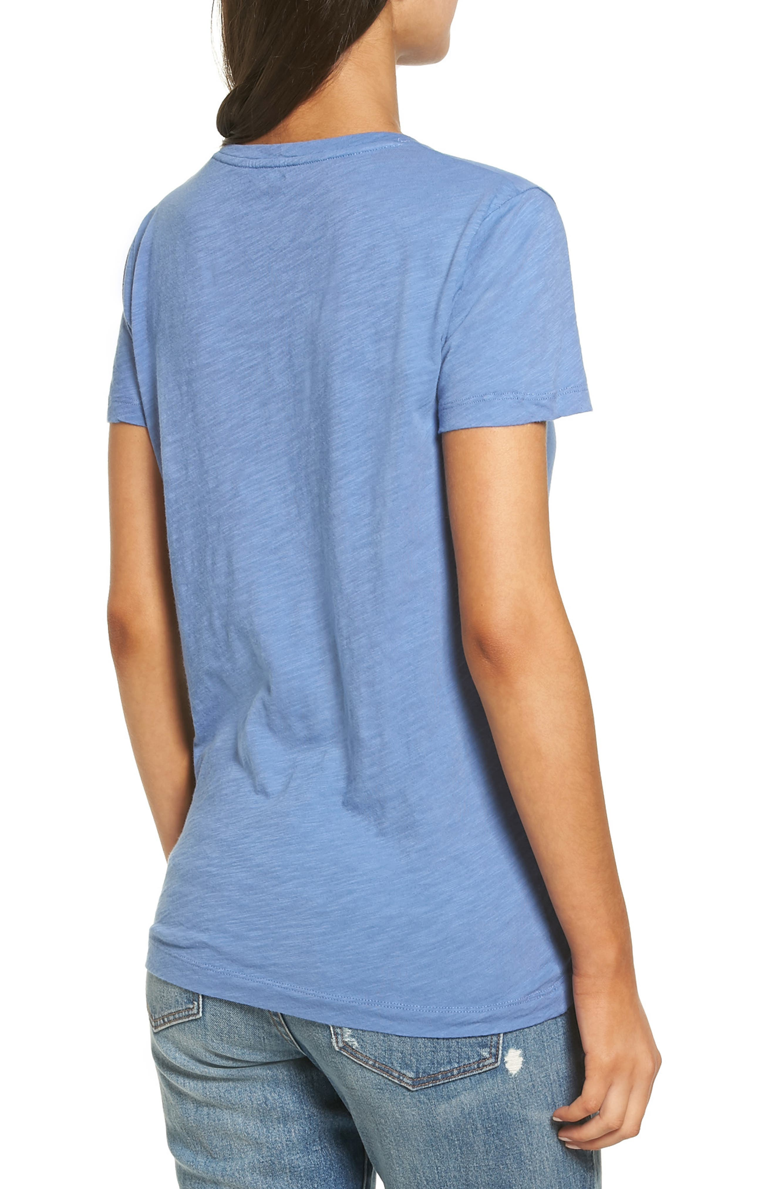 Whisper Cotton V-Neck Pocket Tee,                             Alternate thumbnail 67, color,