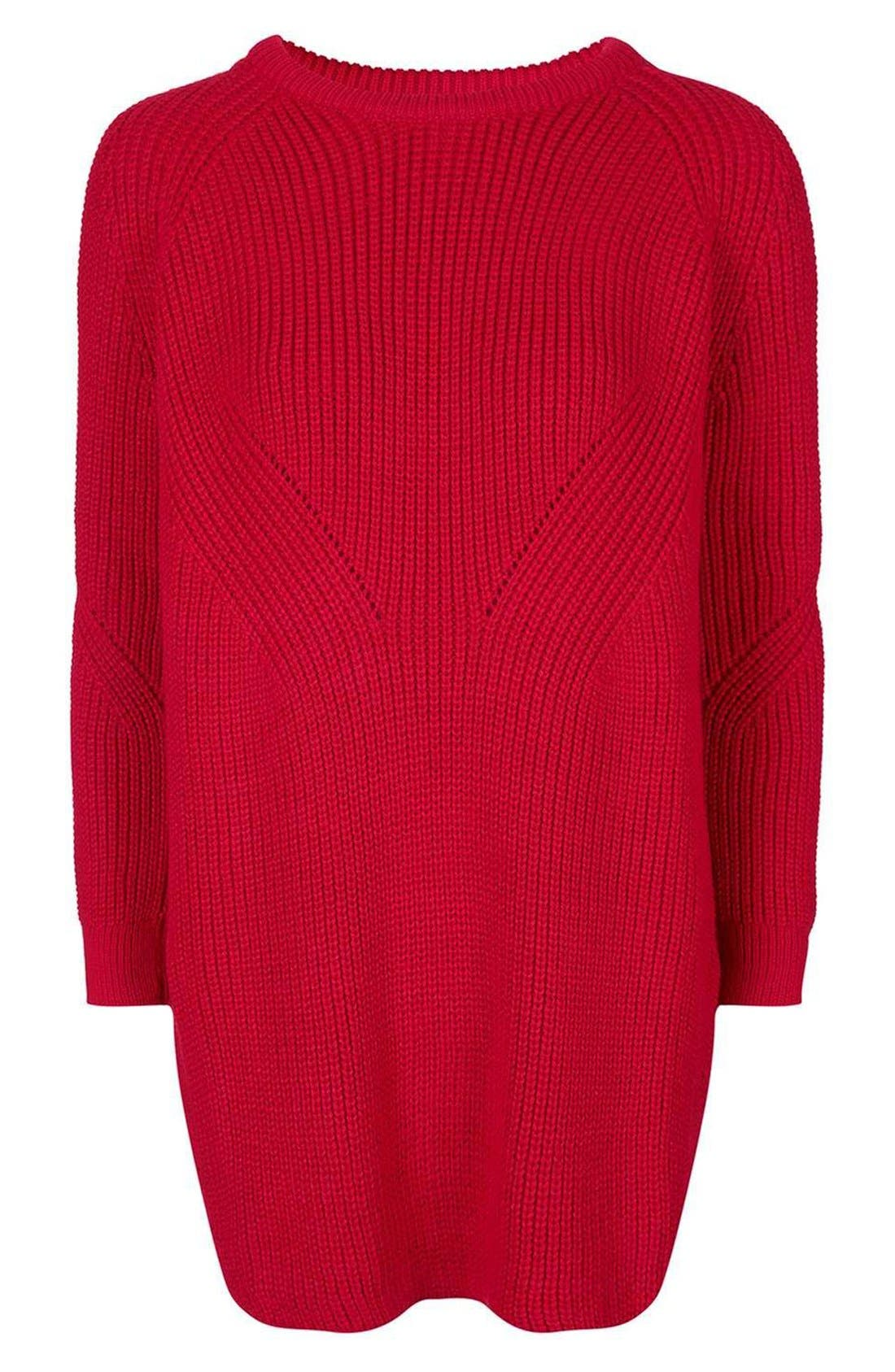 Ribbed Sweater Dress,                             Alternate thumbnail 4, color,                             600