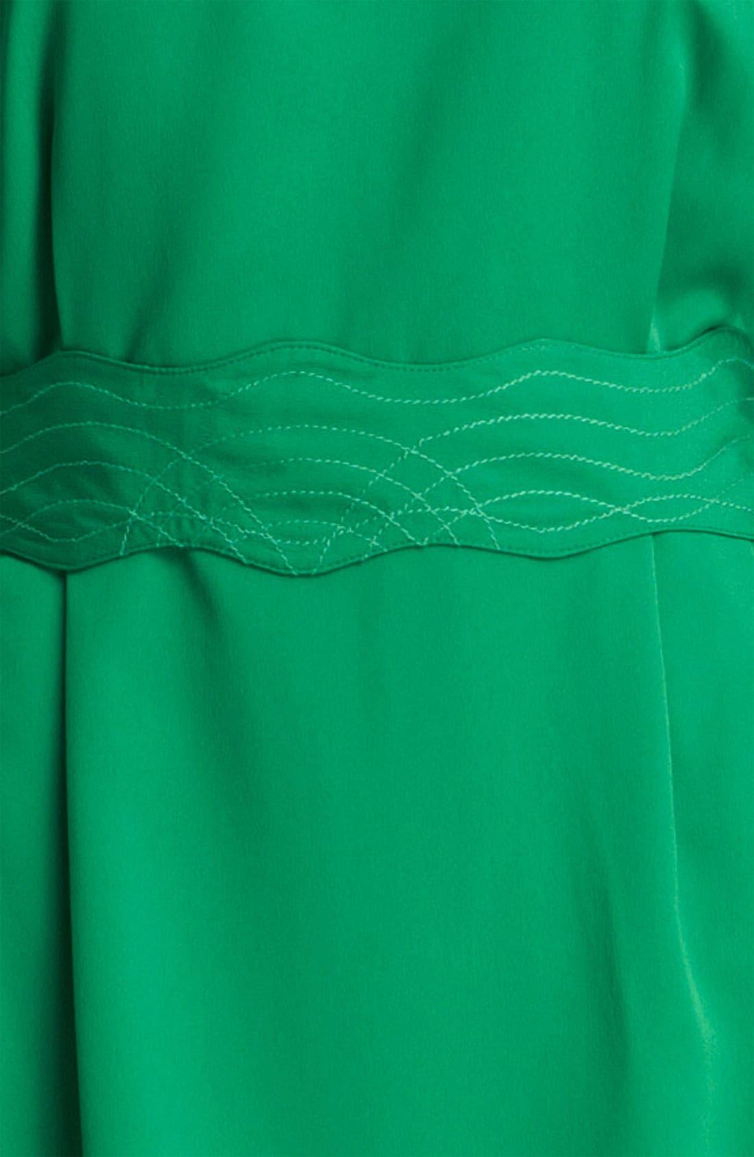 Drape Sleeve Sash Belt Dress,                             Alternate thumbnail 3, color,                             310