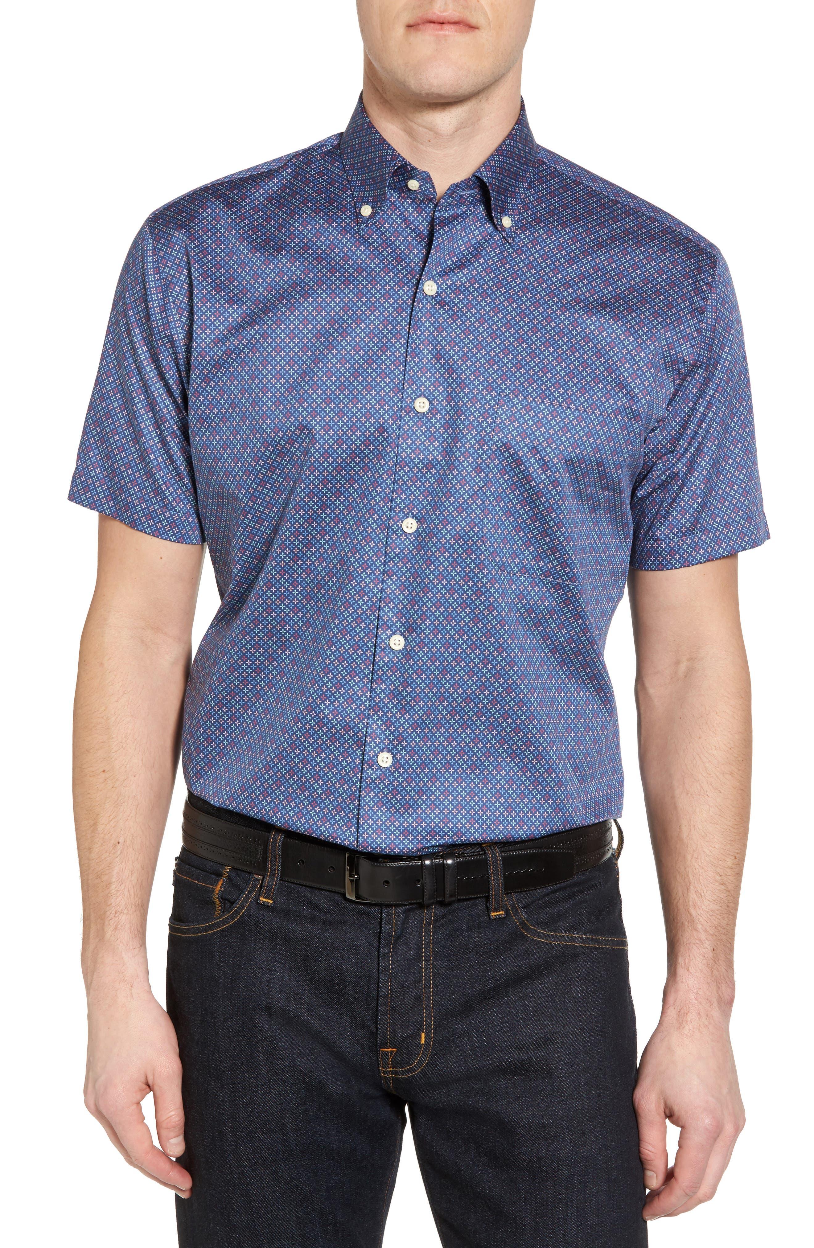 All Aces Regular Fit Sport Shirt,                         Main,                         color, YANKEE BLUE
