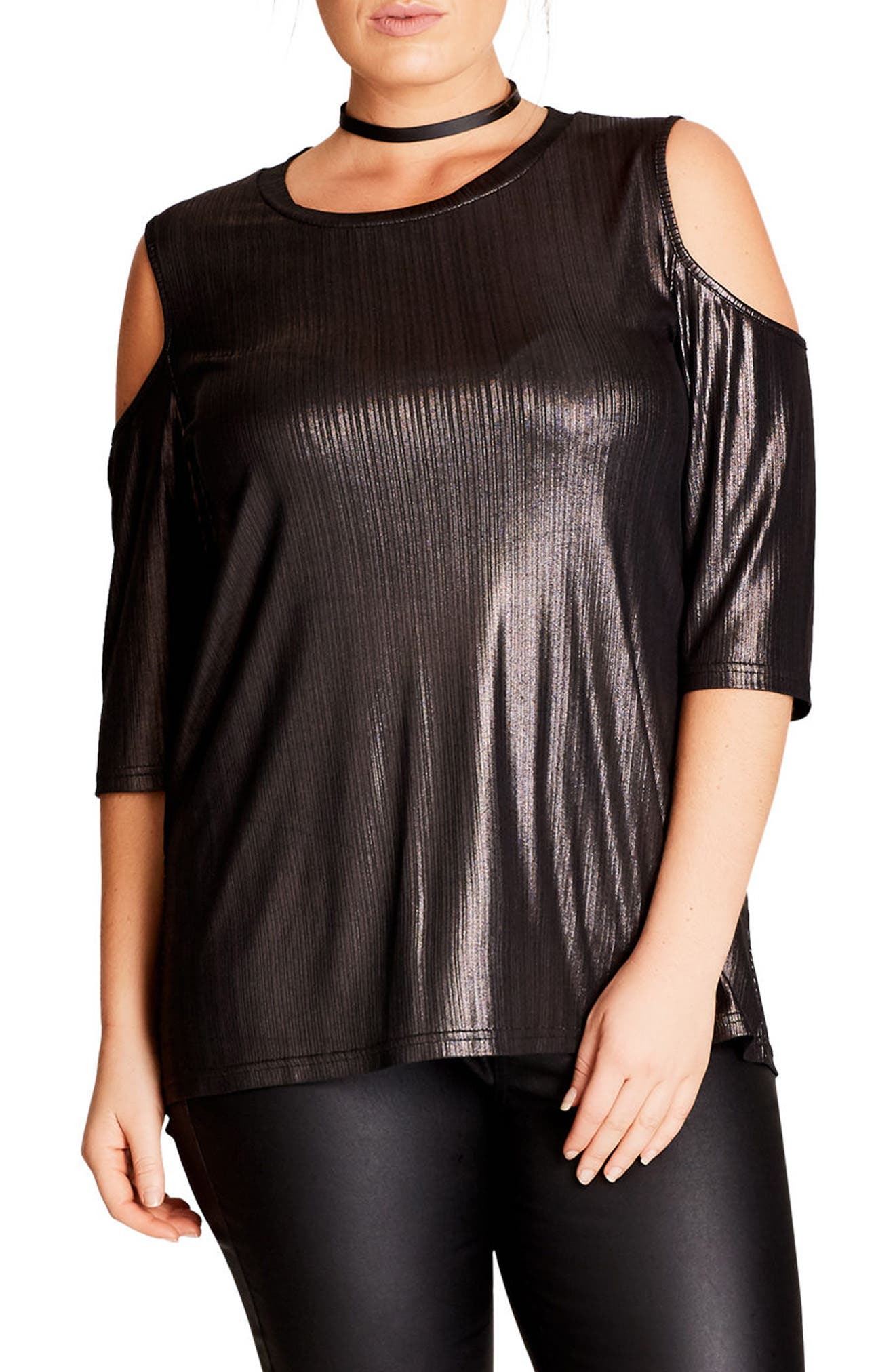 Warriors Heart Cold Shoulder Top,                         Main,                         color, 040