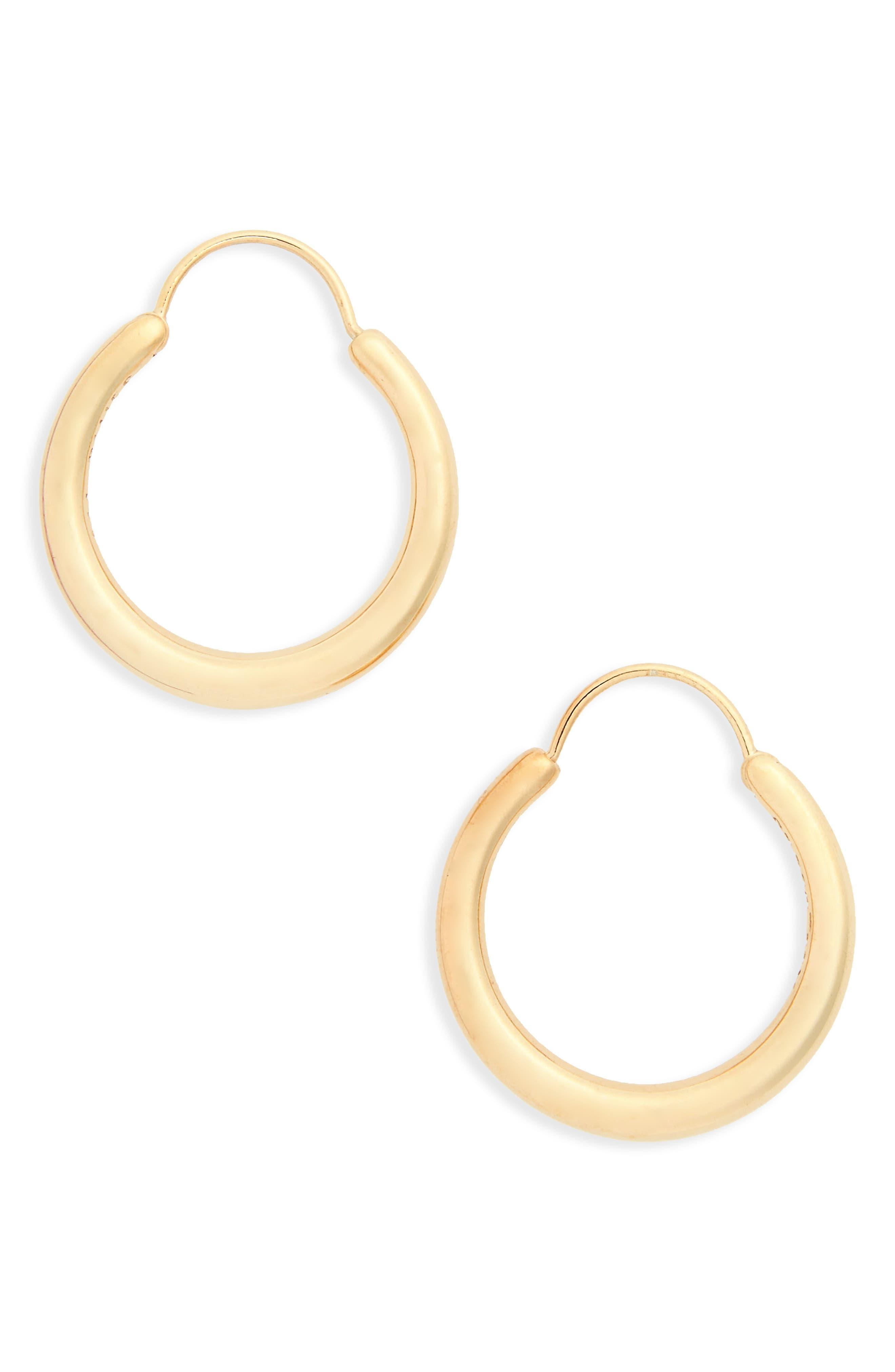 Small Snake Polished Vermeil Earrings,                             Main thumbnail 1, color,