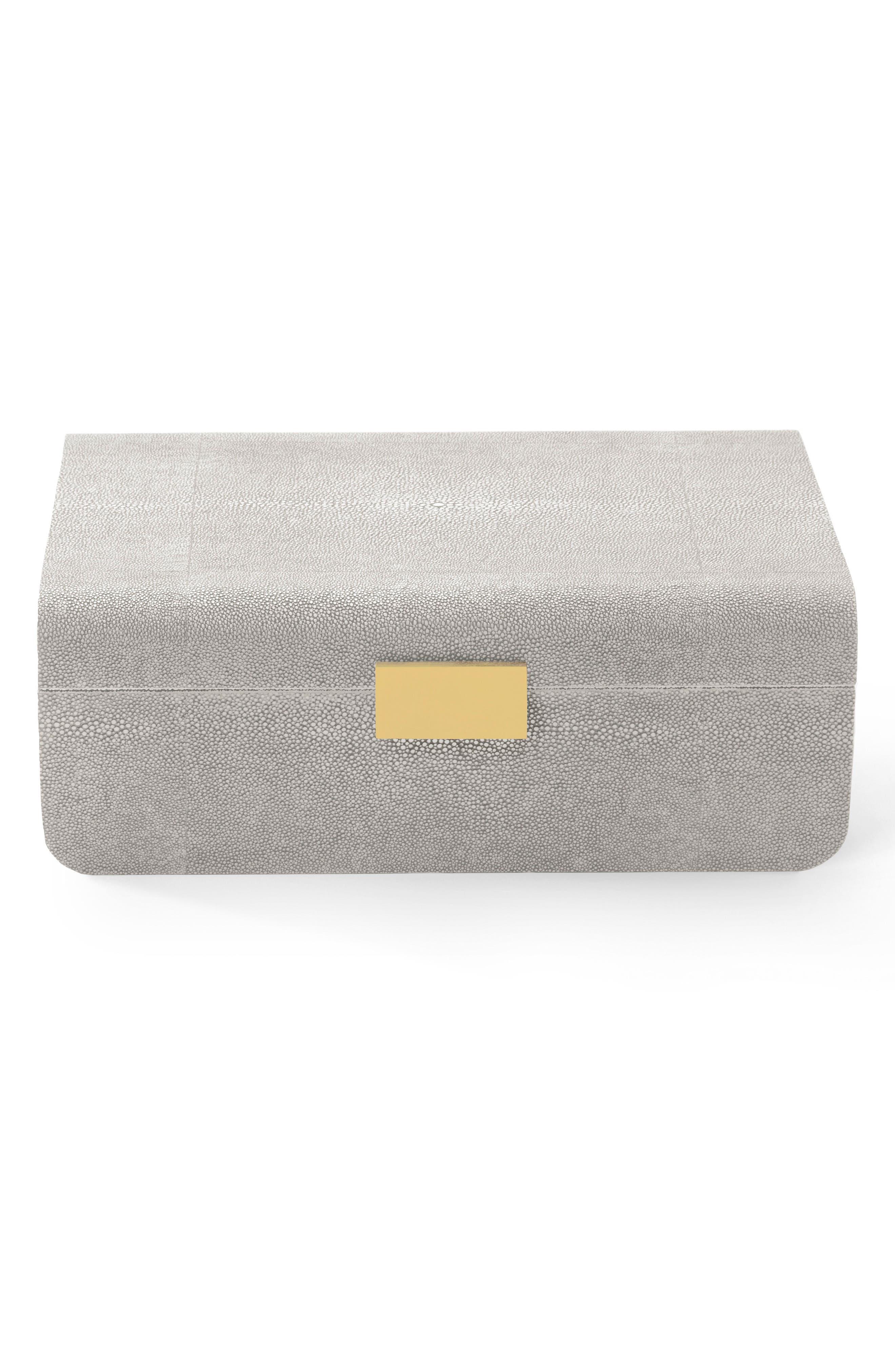 Modern Shagreen Jewelry Box,                             Main thumbnail 1, color,                             020