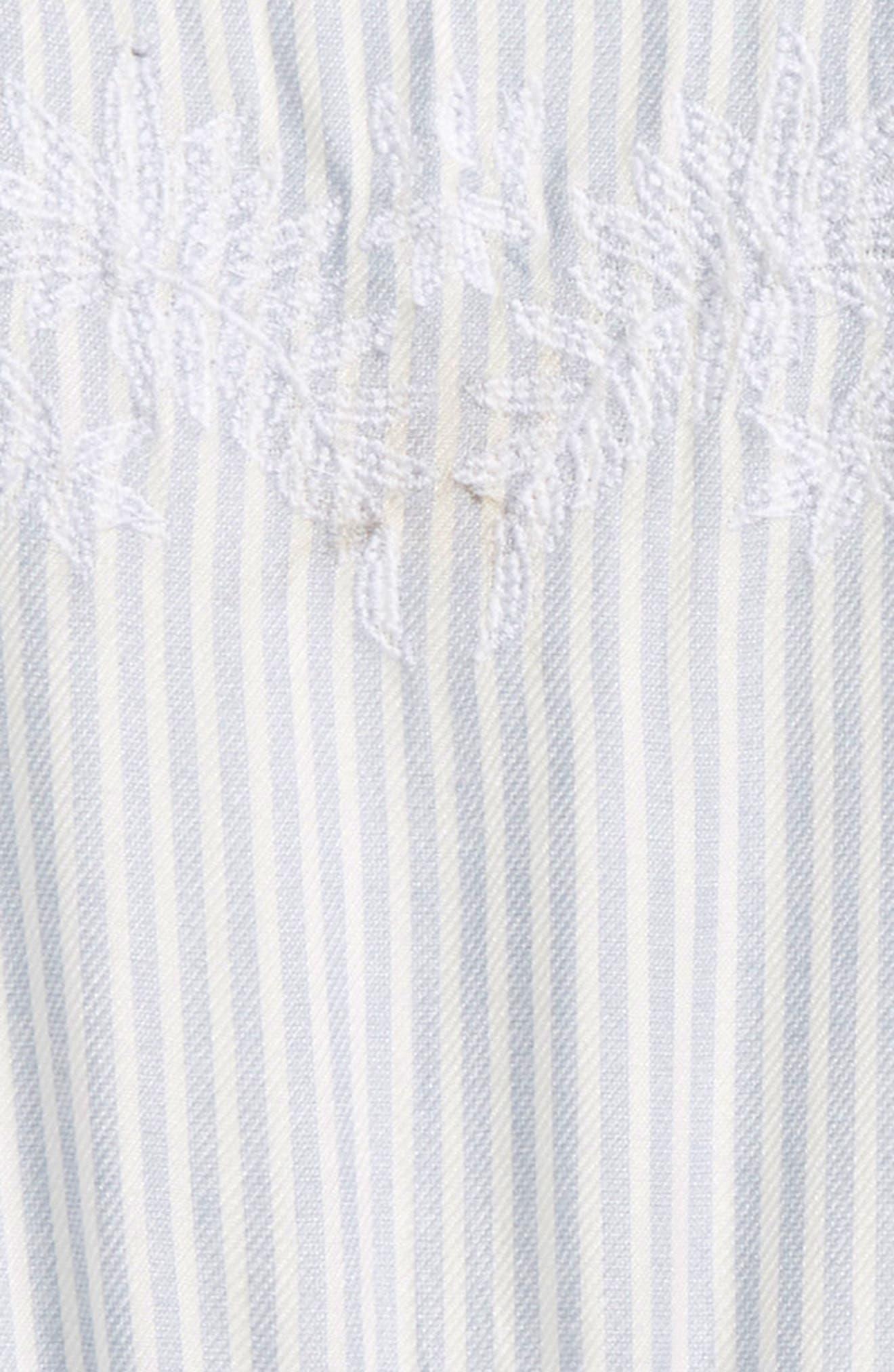 Lemonade Stripe Romper,                             Alternate thumbnail 4, color,