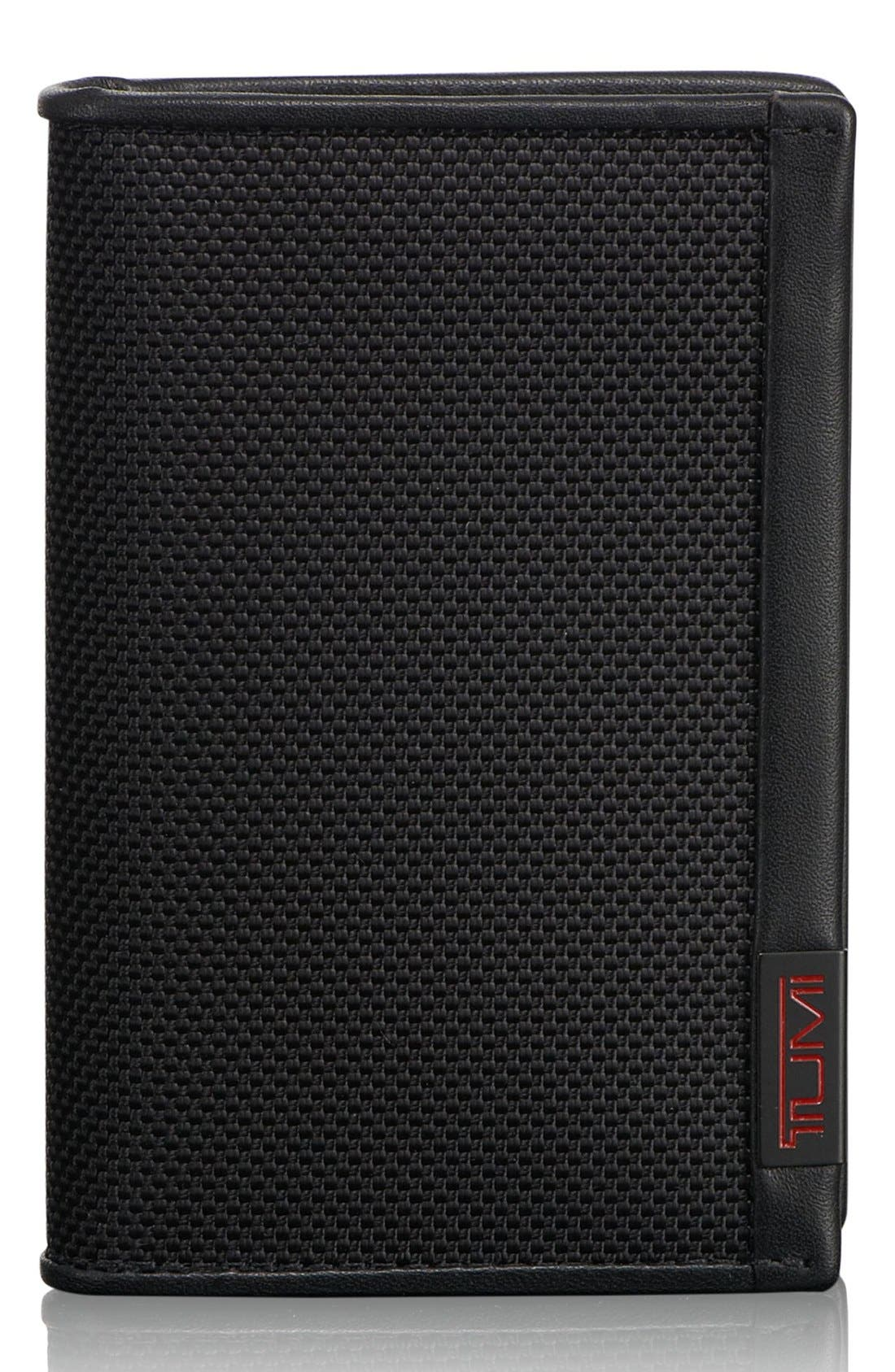 Alpha - ID Lock<sup>™</sup> Shielded Multi Window Card Case,                         Main,                         color, BLACK