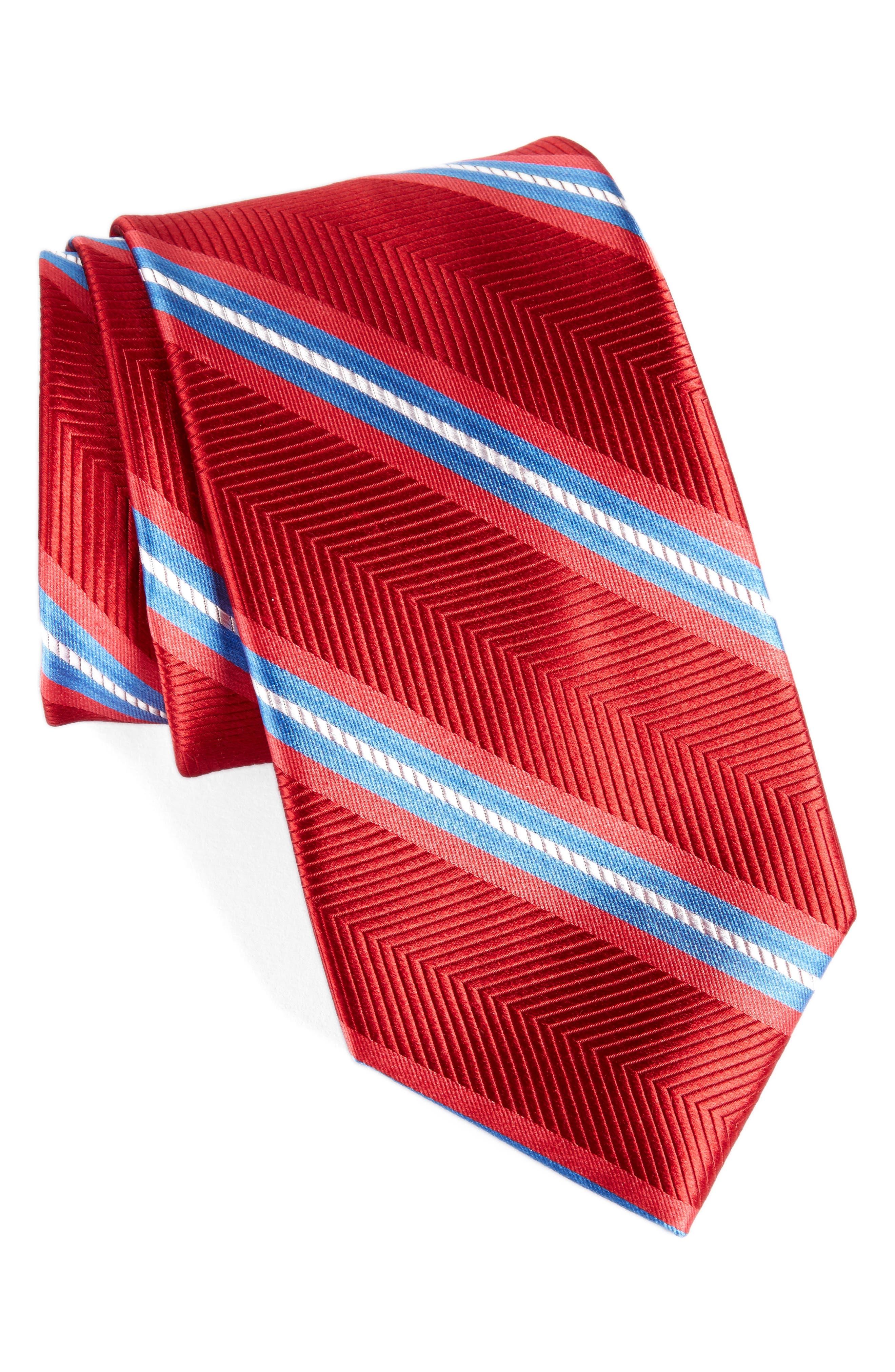 Stripe Silk Tie,                         Main,                         color, 600