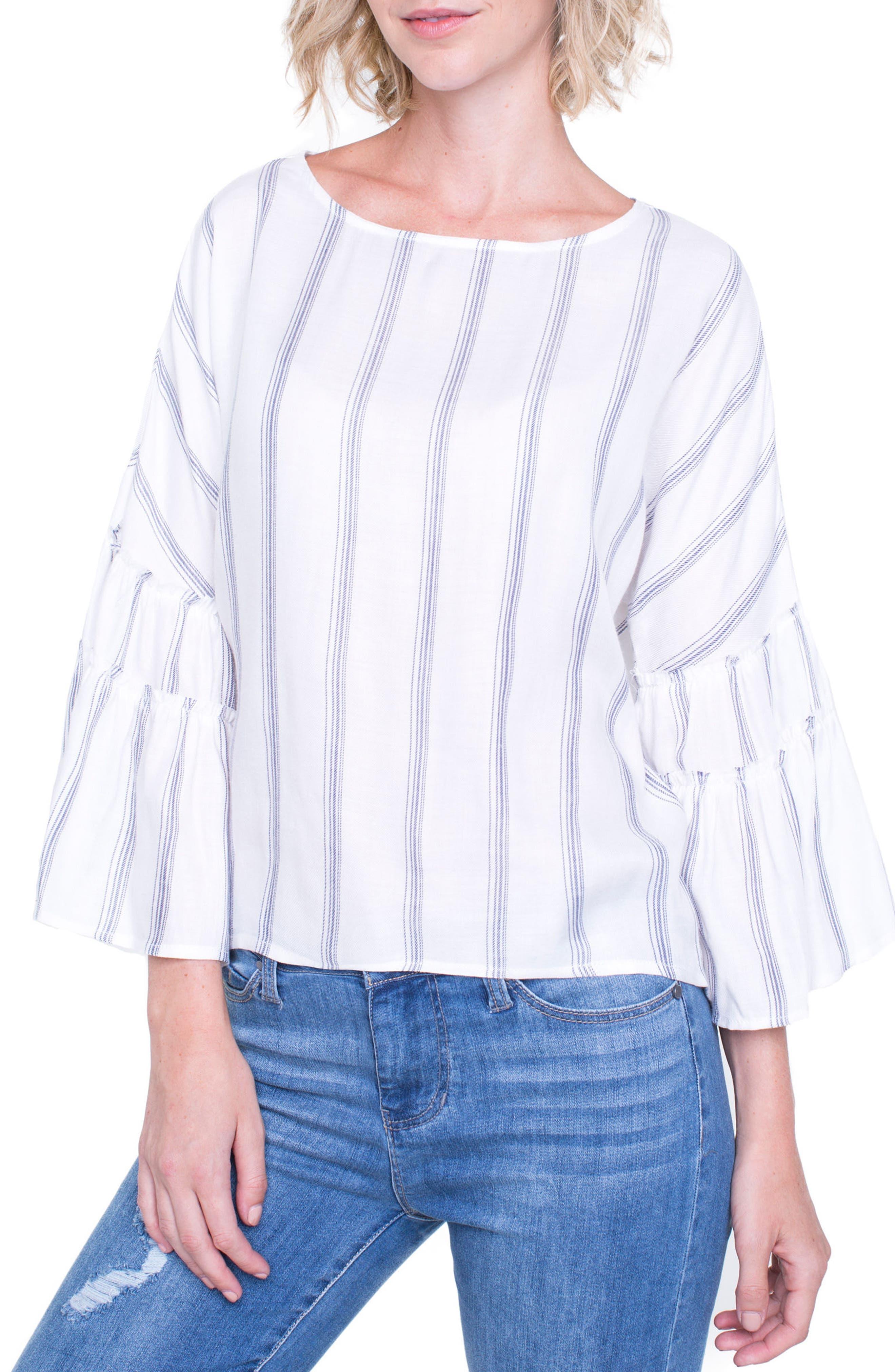 Voluminous Sleeve Shirt,                             Main thumbnail 1, color,                             100