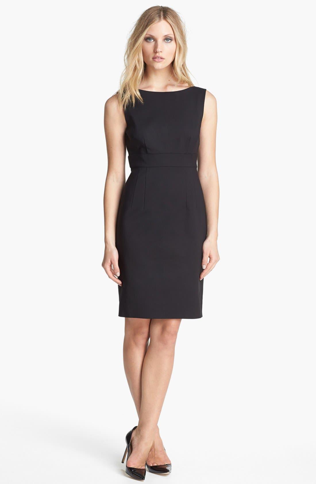 KATE SPADE NEW YORK 'joyann' sleeveless dress, Main, color, 001