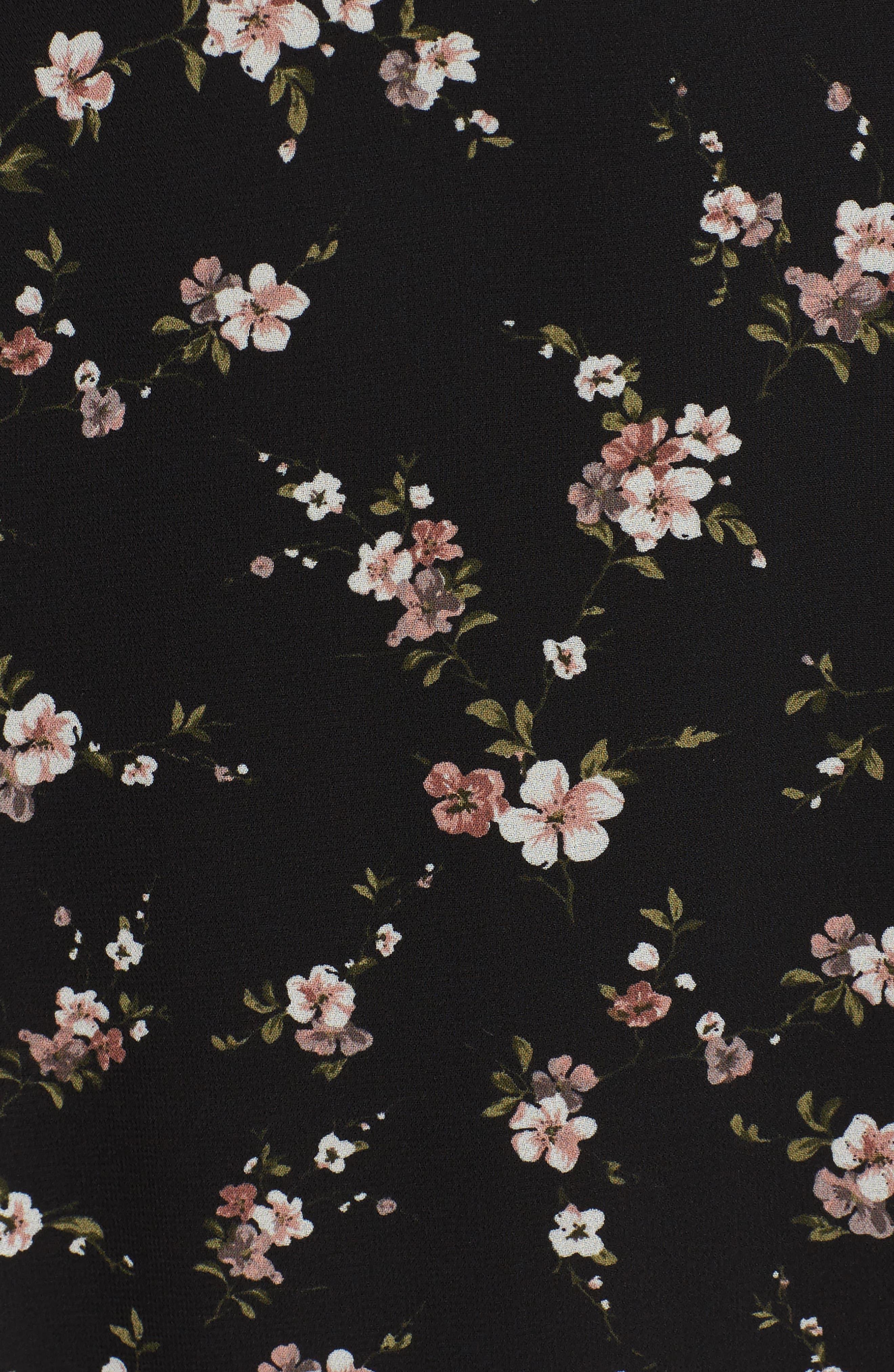 Natalia Midi Dress,                             Alternate thumbnail 5, color,                             005