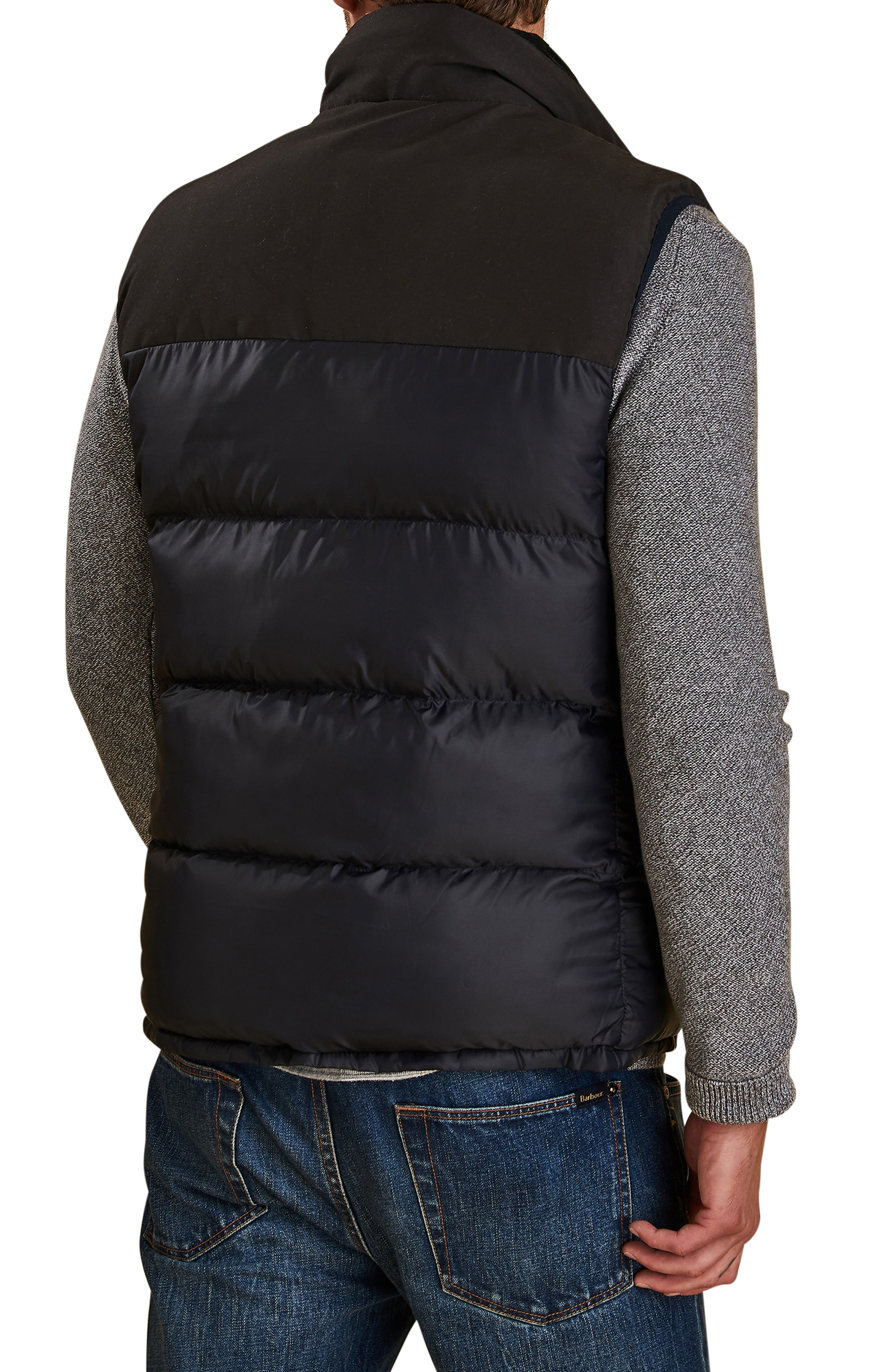 BARBOUR Blank Quilted Vest, Main, color, NAVY