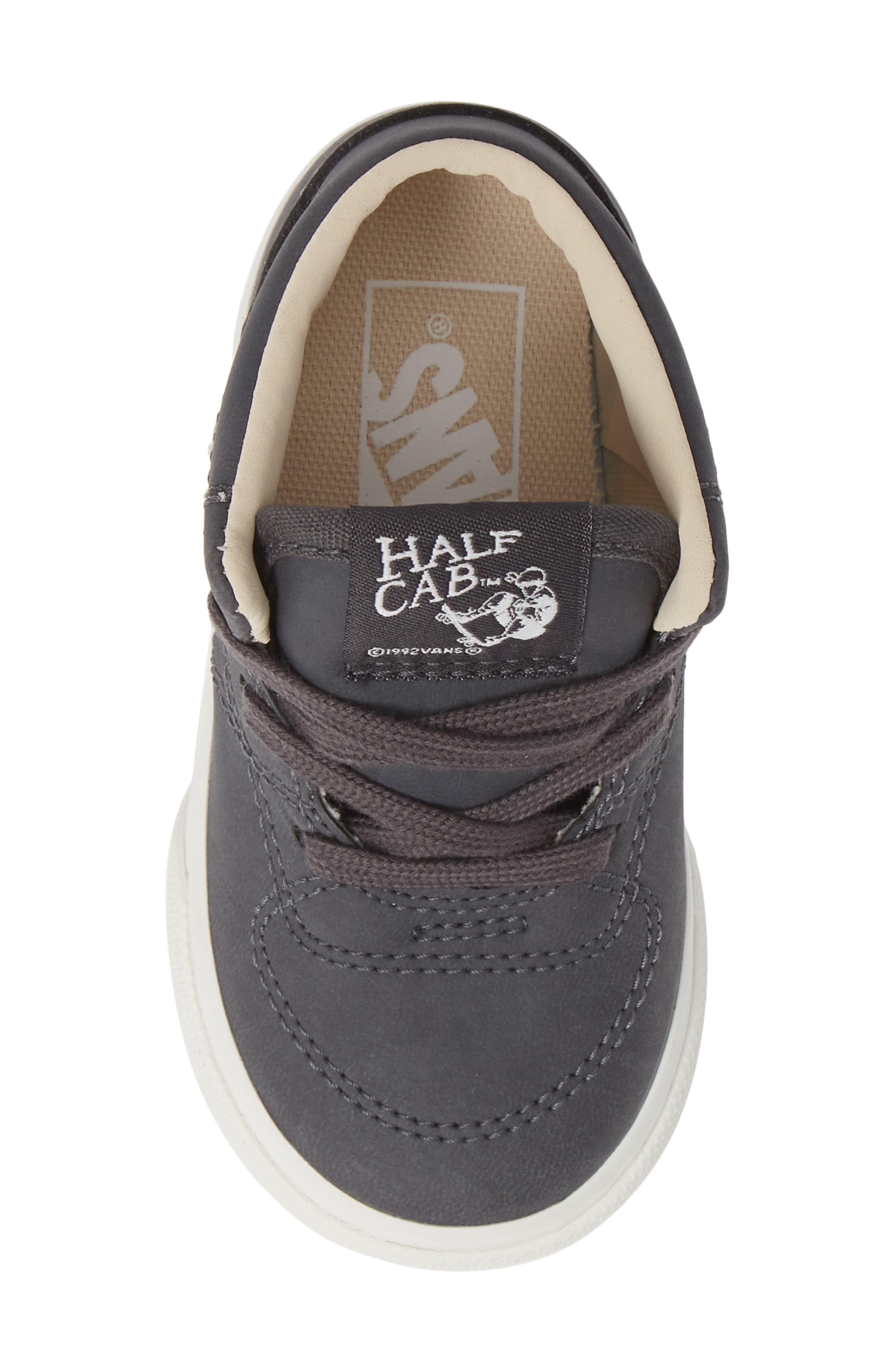 Half Cab Sneaker,                             Alternate thumbnail 5, color,                             VANSBUCK ASPHALT/ BLANC