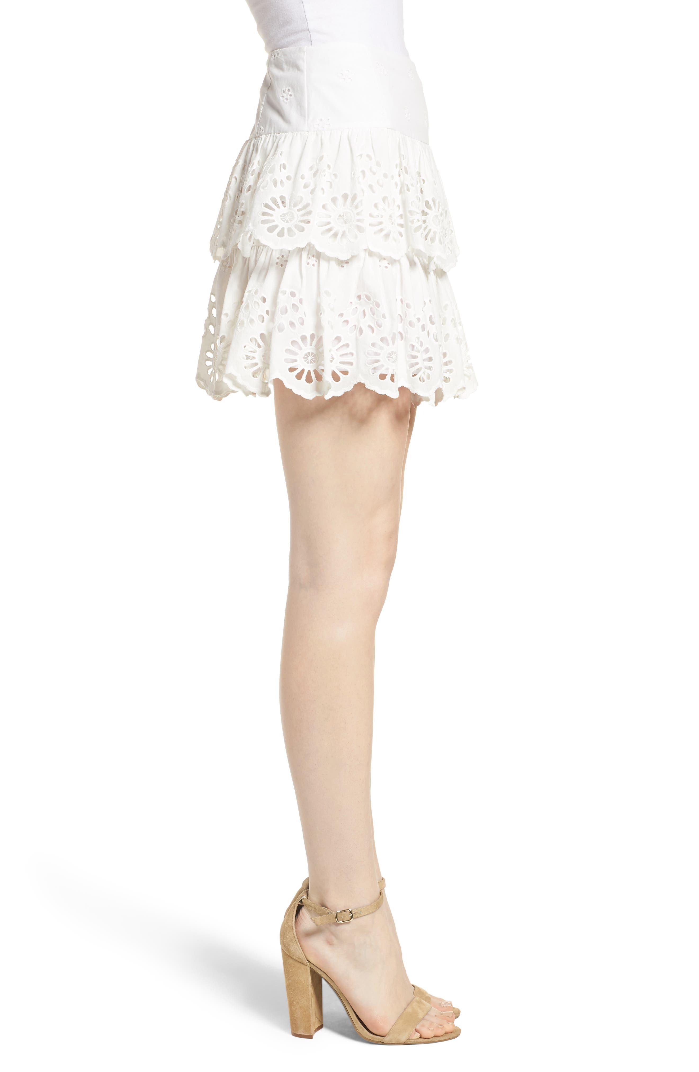 Nell Skirt,                             Alternate thumbnail 3, color,                             WHITE