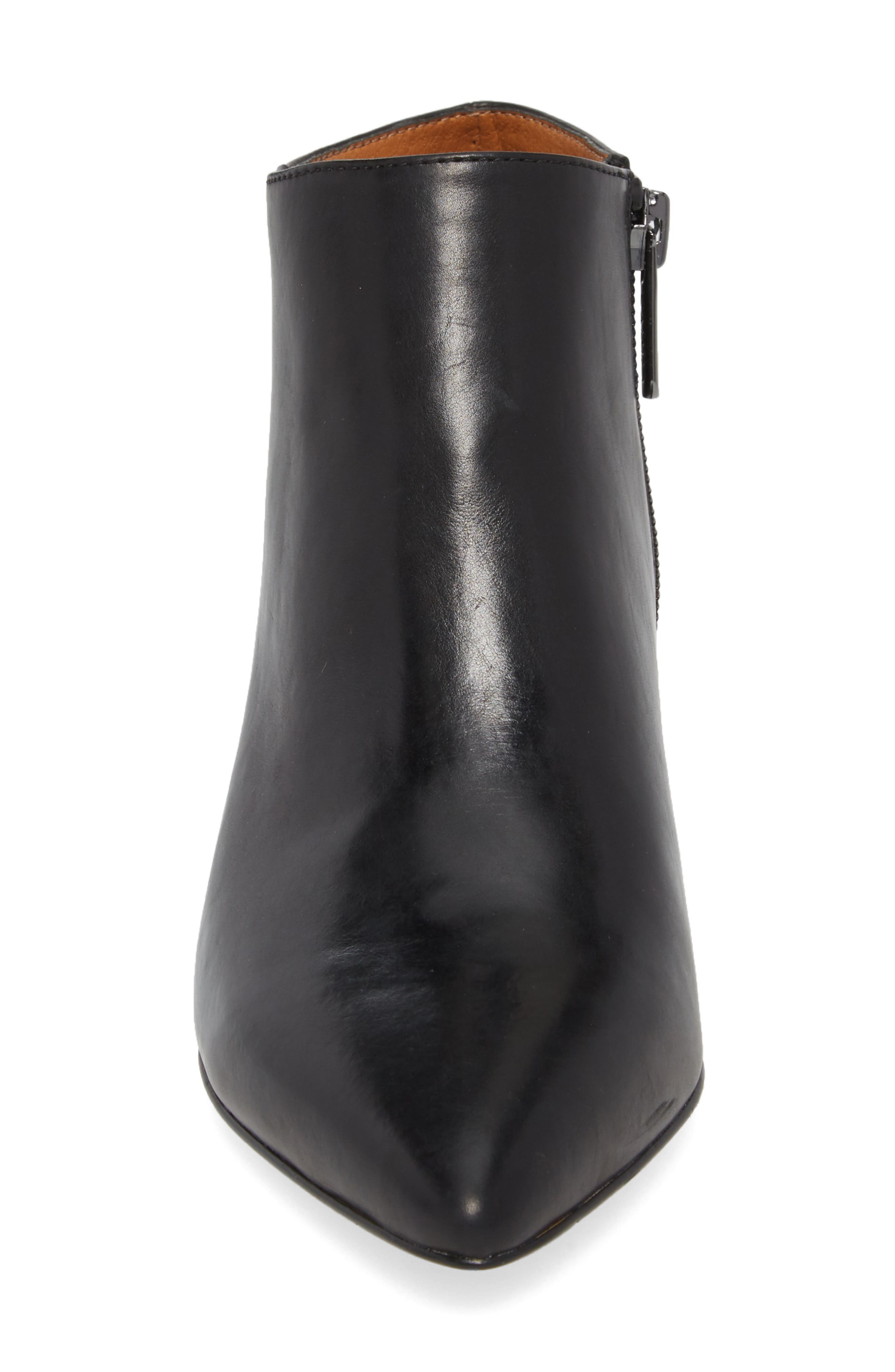 Lowe Bootie,                             Alternate thumbnail 4, color,                             BLACK LEATHER