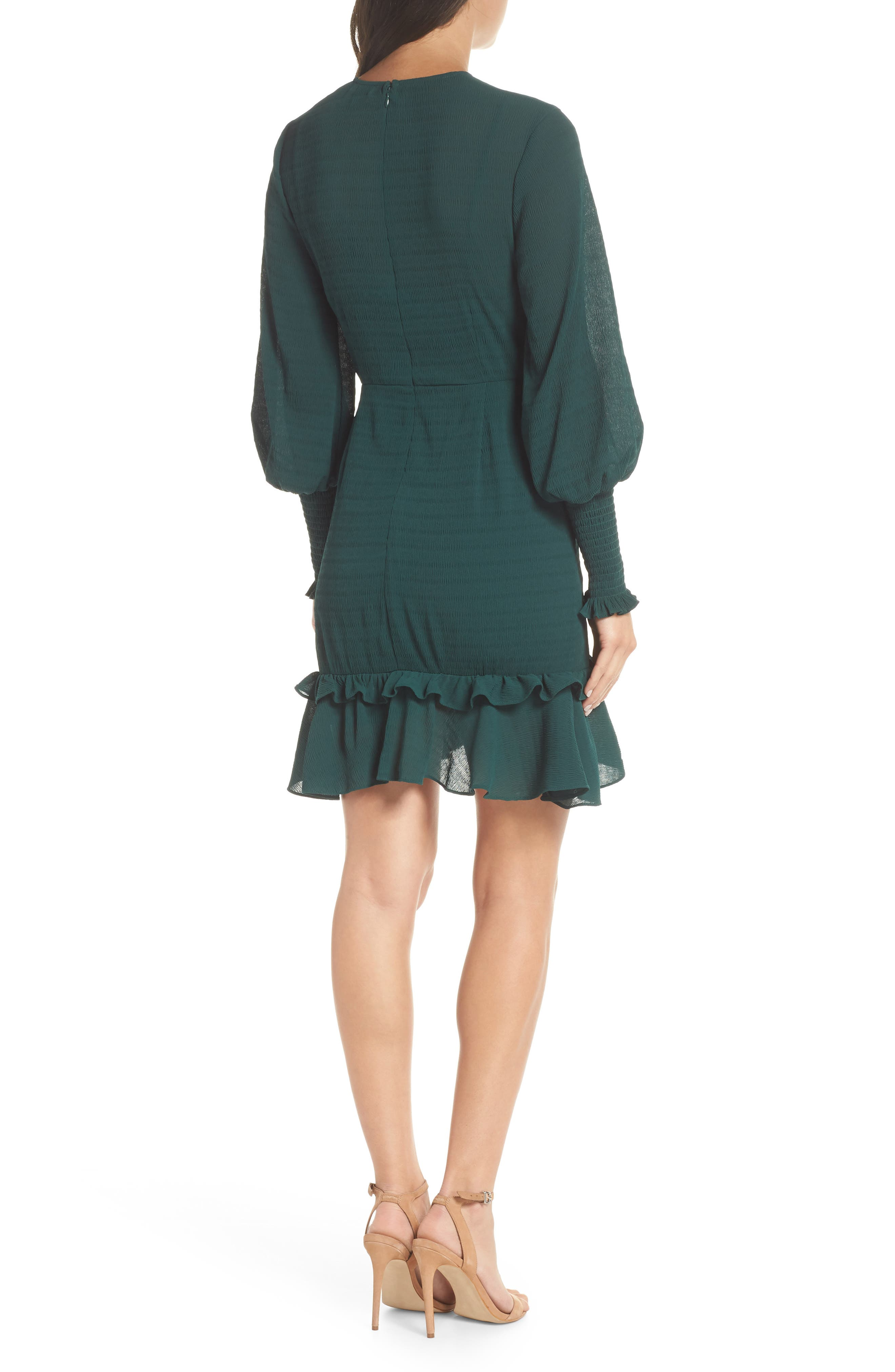 CHELSEA28, Ruffle A-Line Dress, Alternate thumbnail 2, color, 301