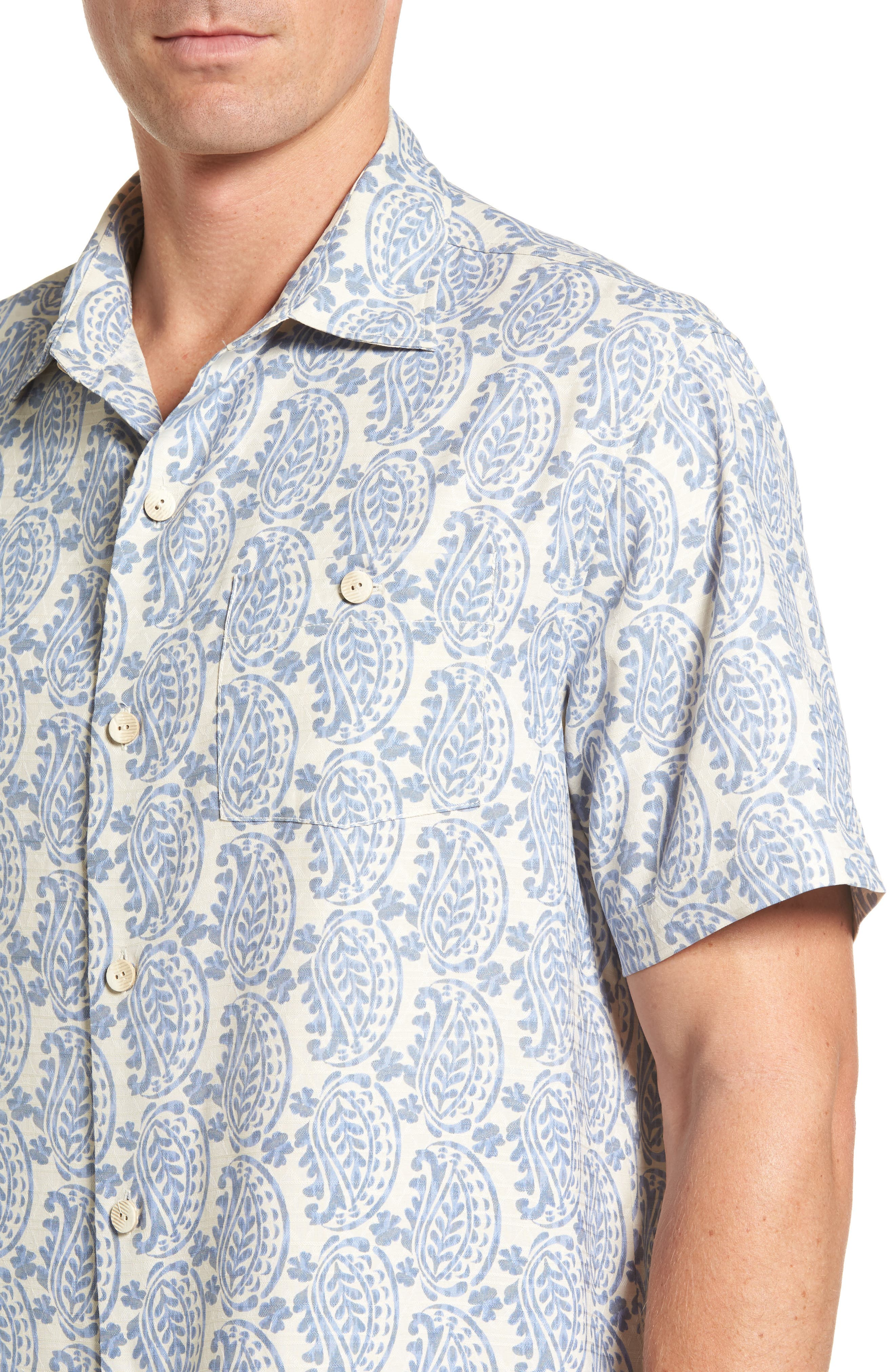Paisley Days Woven Shirt,                             Alternate thumbnail 4, color,                             100