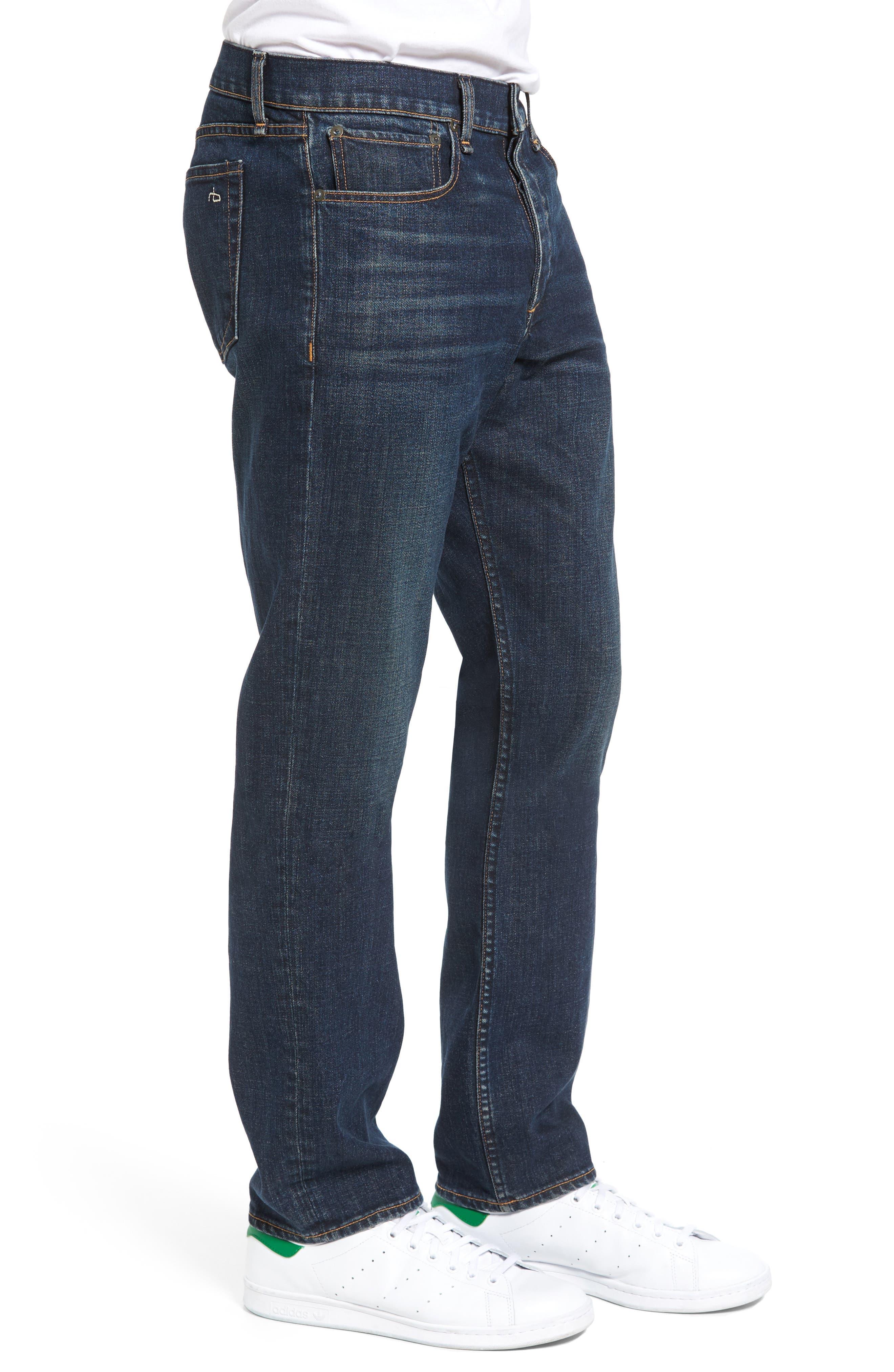 Fit 3 Slim Straight Leg Jeans,                             Alternate thumbnail 3, color,                             404