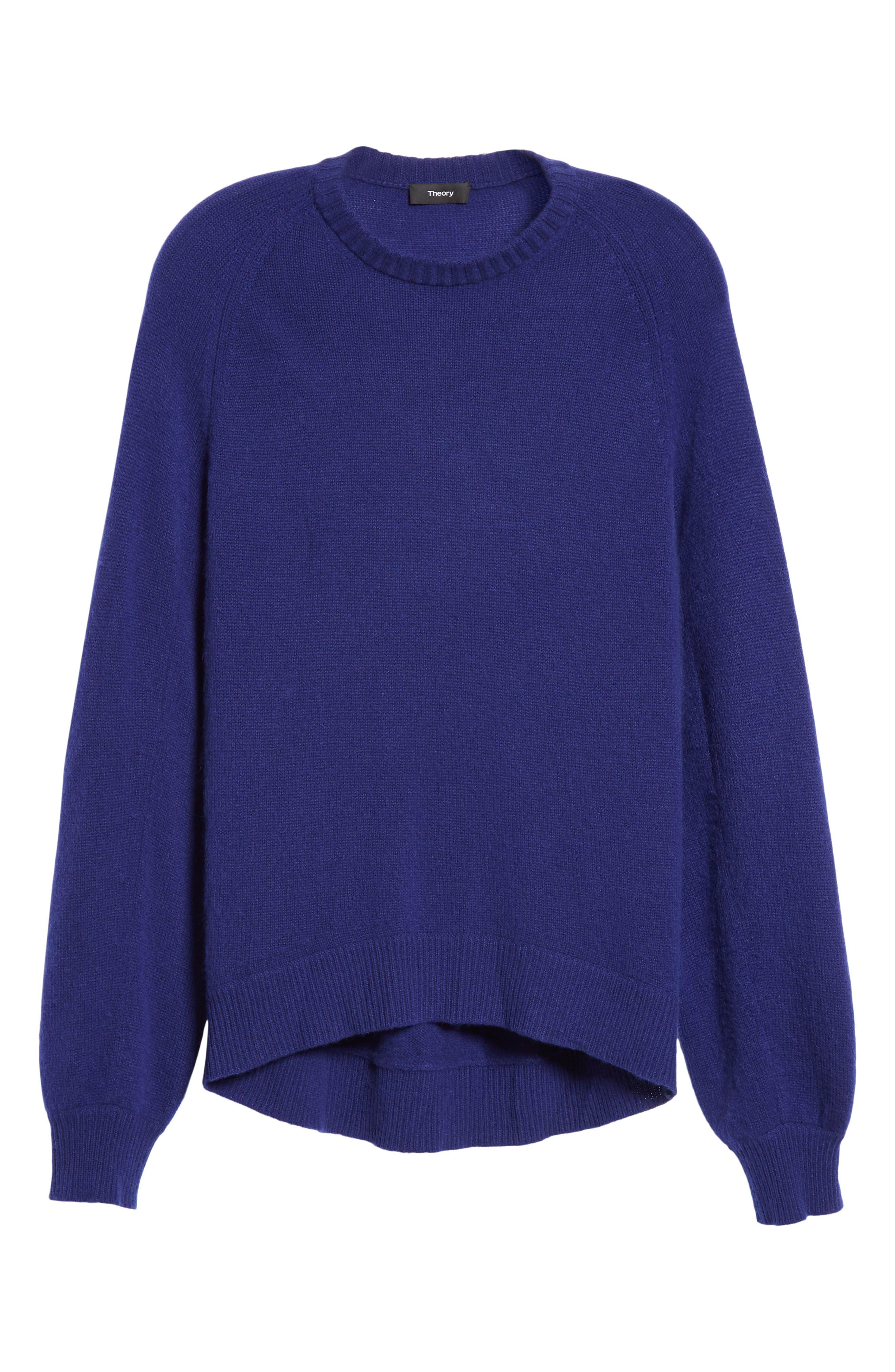 Cashmere Sweater,                             Alternate thumbnail 6, color,                             PERSIAN BLUE