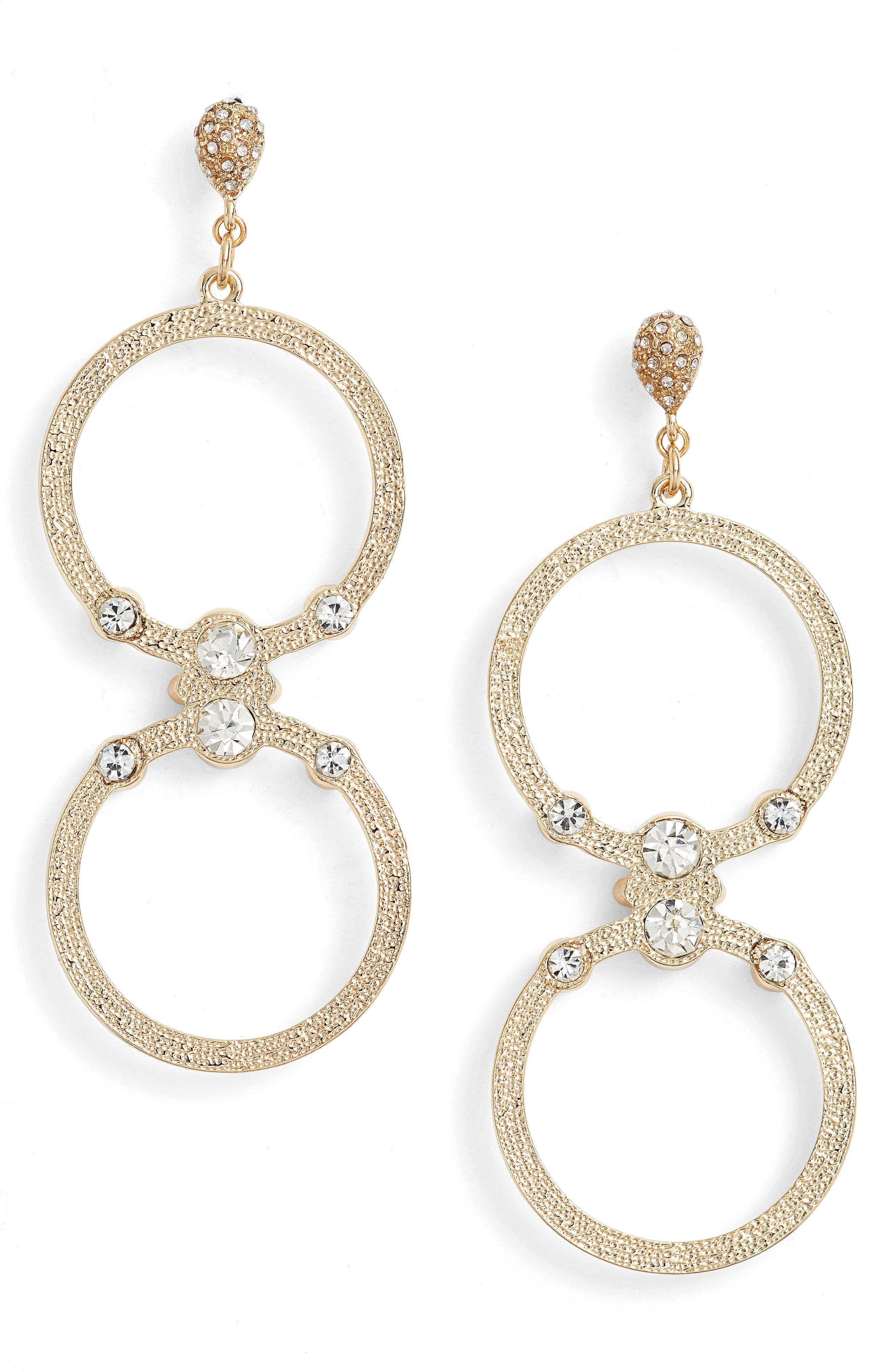 Double Hoop Earrings,                         Main,                         color, 710