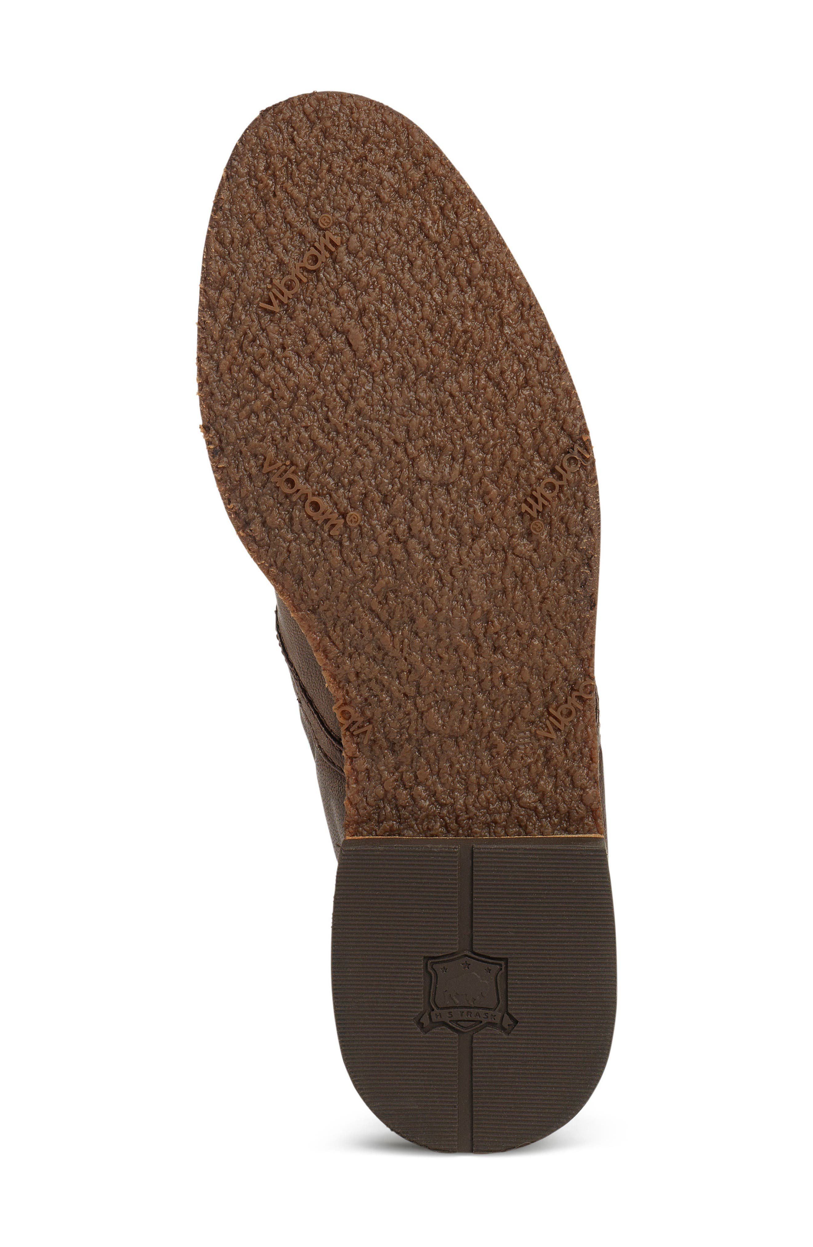 'Ali' Flat,                             Alternate thumbnail 6, color,                             BROWN LEATHER