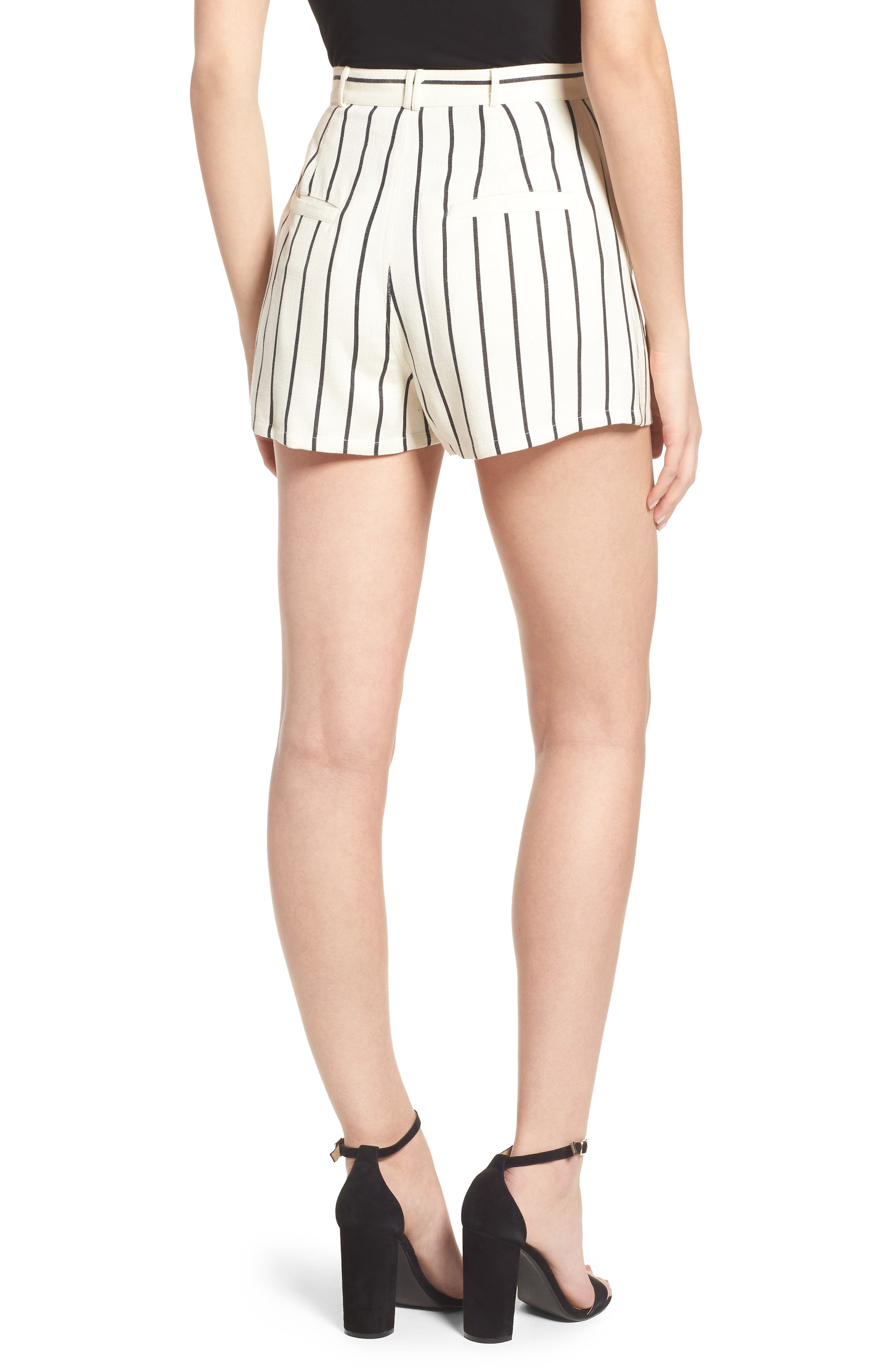 Jordy Stripe High Waist Shorts,                             Alternate thumbnail 2, color,                             251