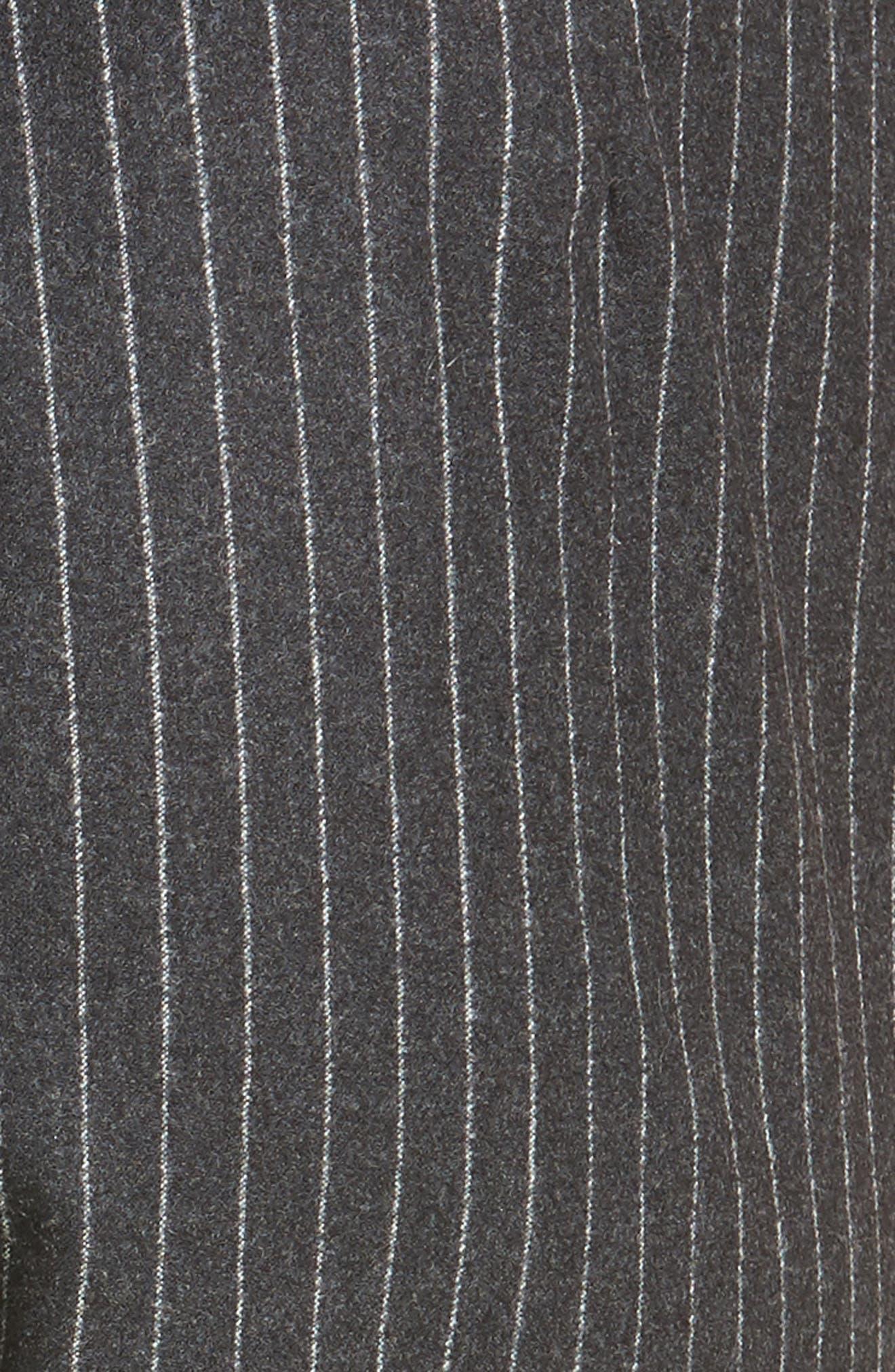 Pinstripe Wool Flannel Pants,                             Alternate thumbnail 5, color,                             021
