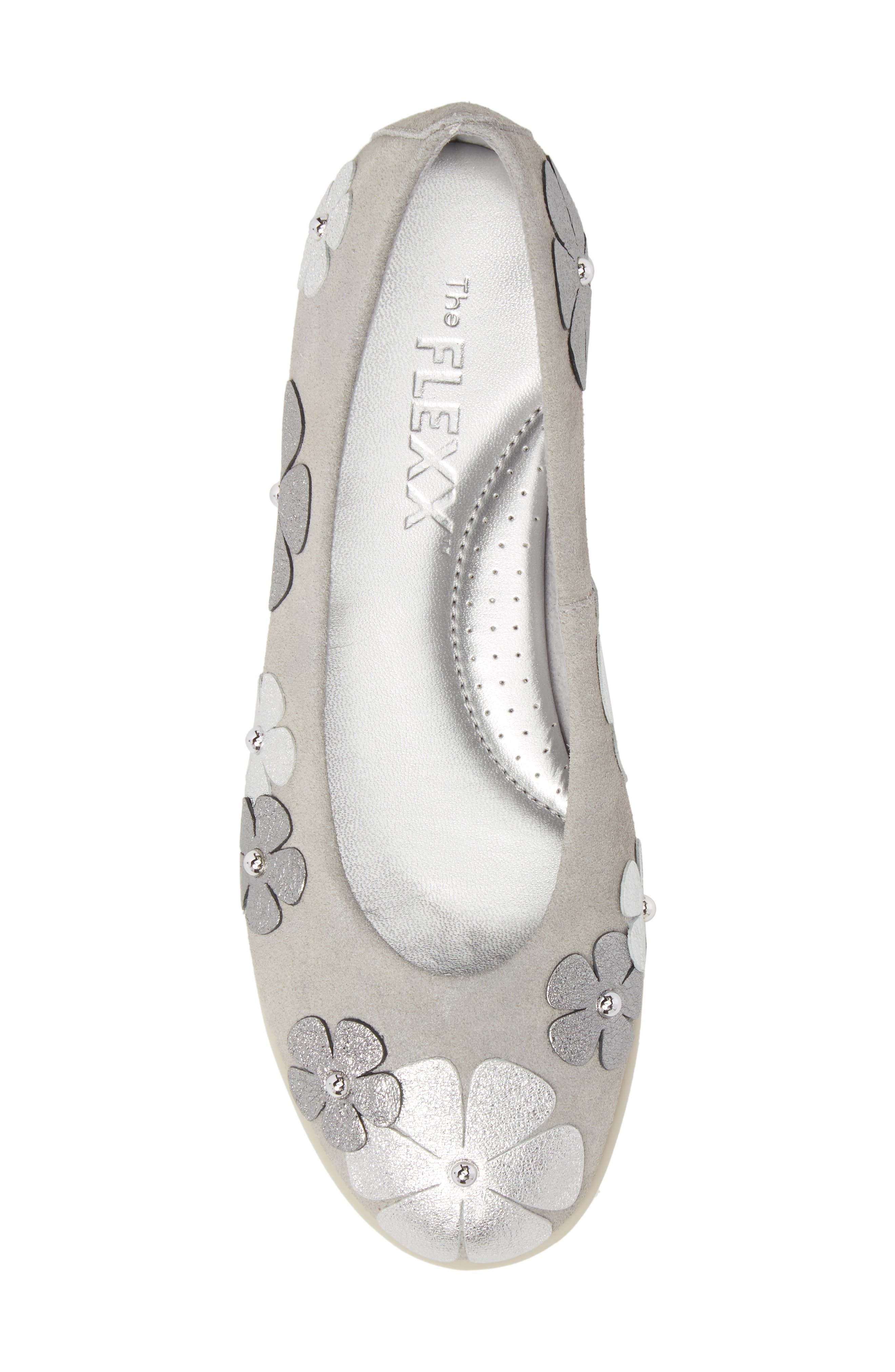 Miss Hippie Ballerina Flat,                             Alternate thumbnail 5, color,                             HAZE AURORA LEATHER