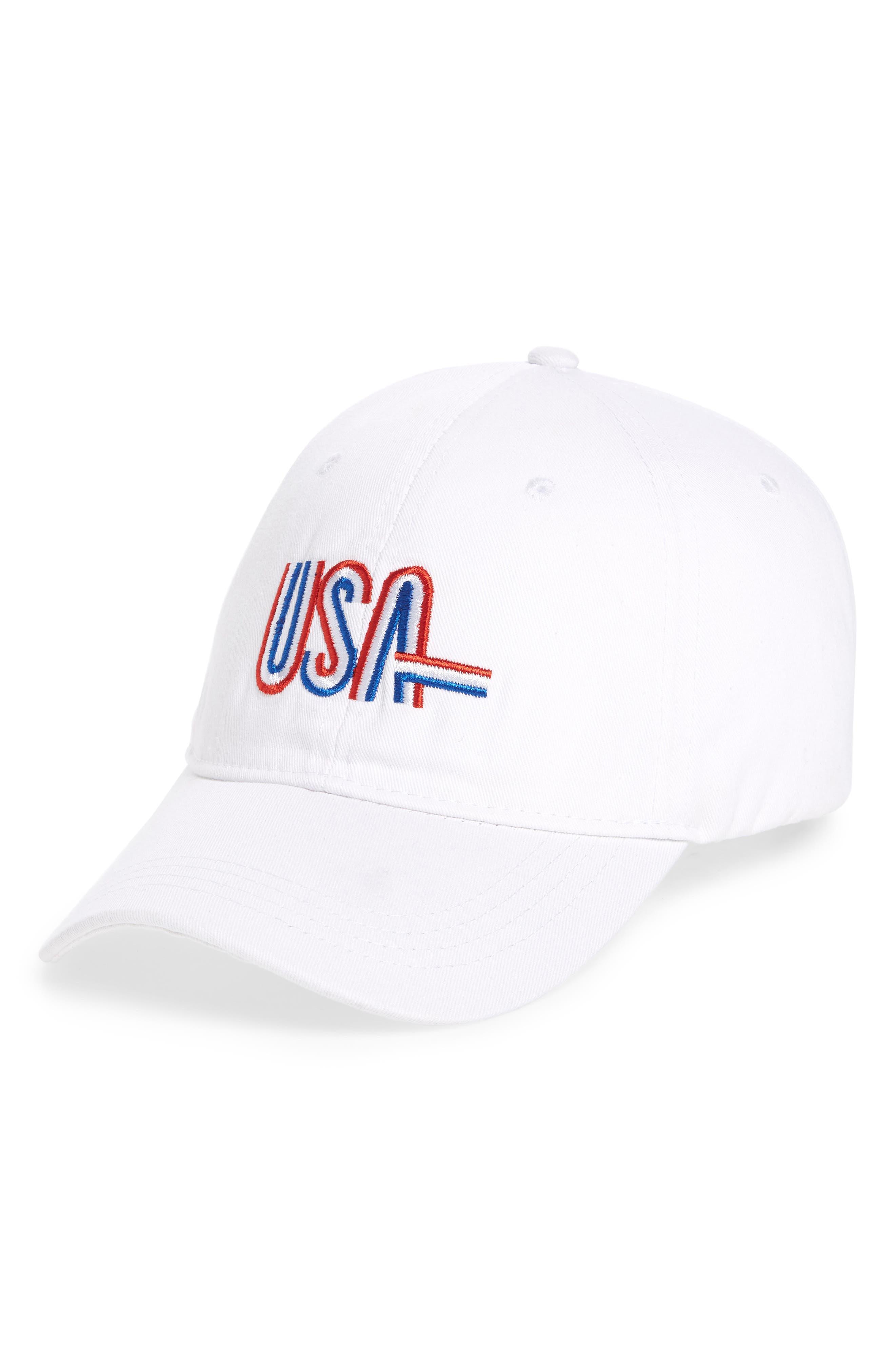 USA Baseball Cap,                             Main thumbnail 2, color,
