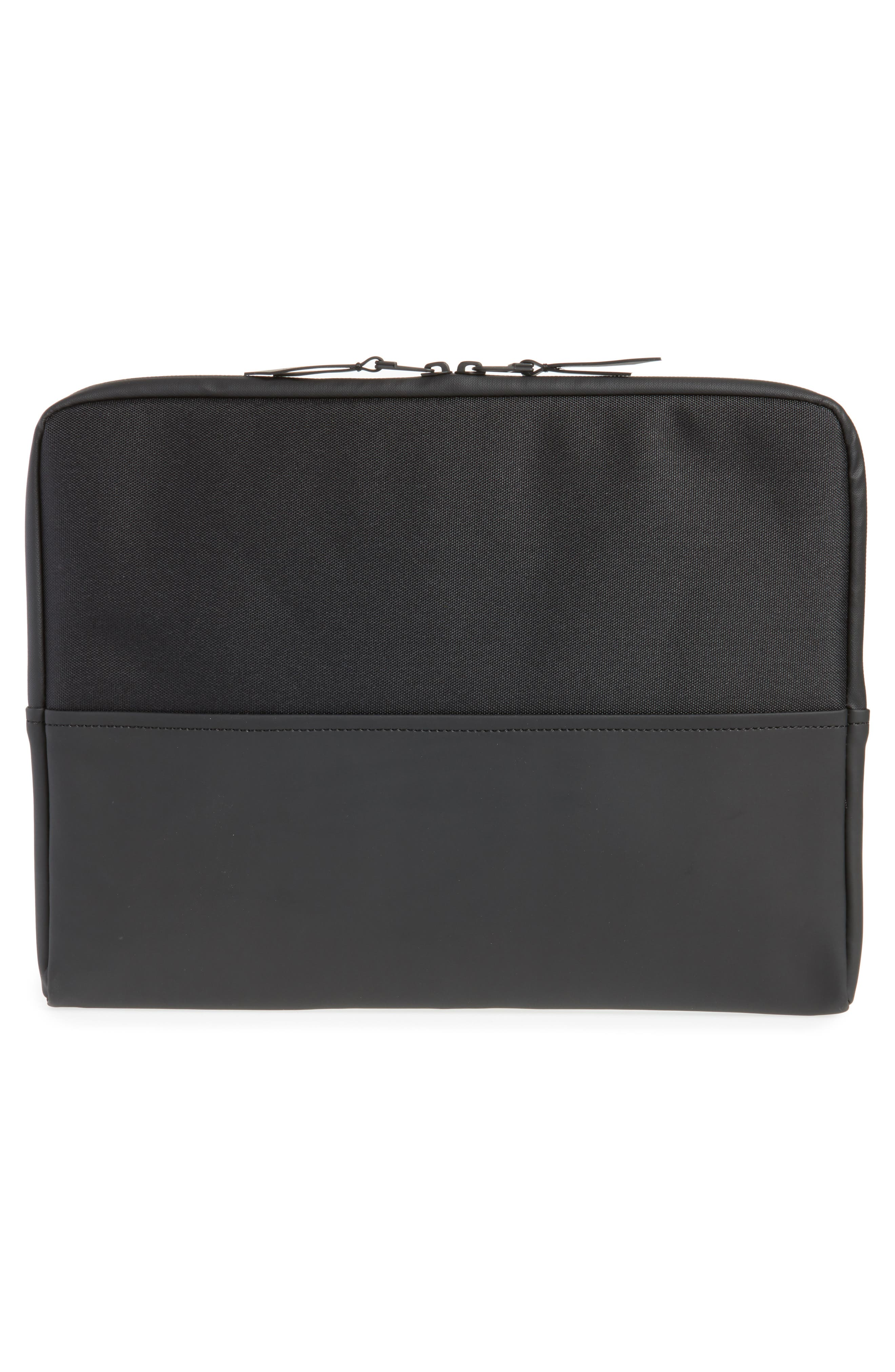 RAINS,                             13-Inch Laptop Sleeve,                             Alternate thumbnail 2, color,                             BLACK