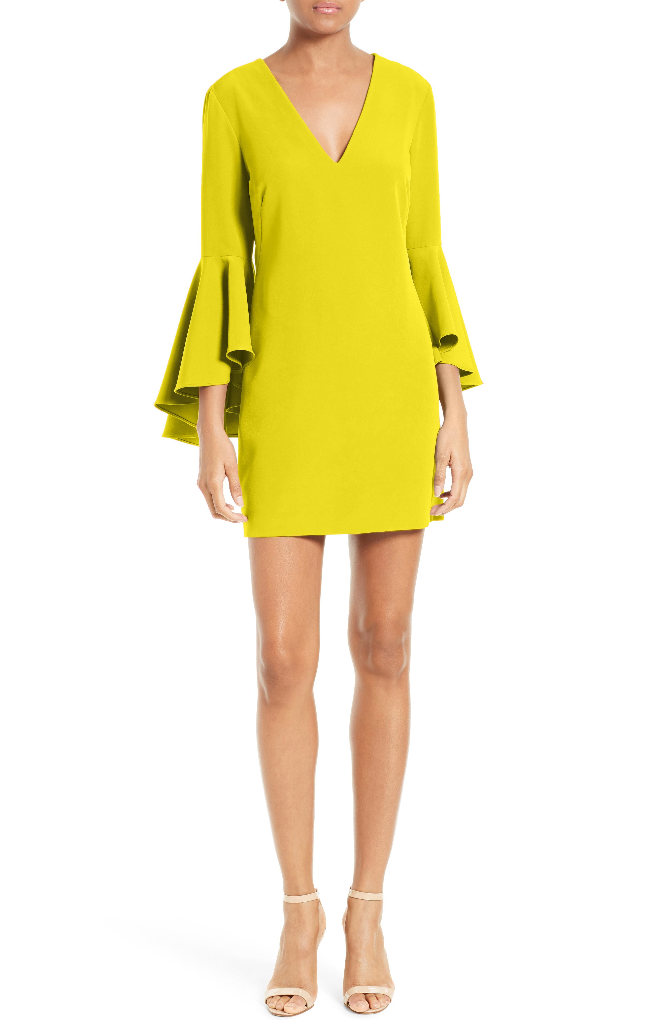 Nicole Bell Sleeve Dress,                             Alternate thumbnail 72, color,
