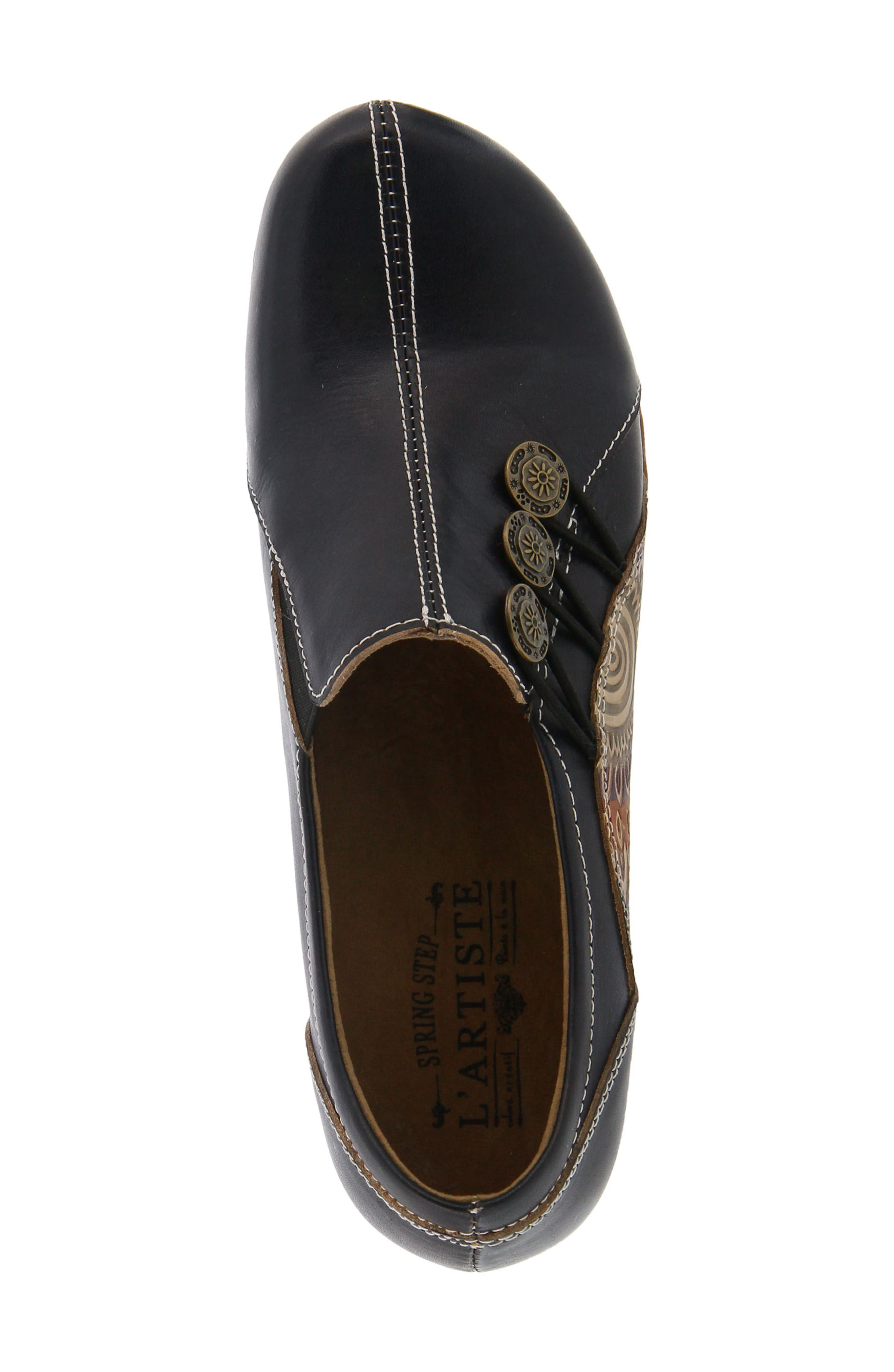 L'Artiste Agacia Slip-On,                             Alternate thumbnail 4, color,                             BLACK LEATHER