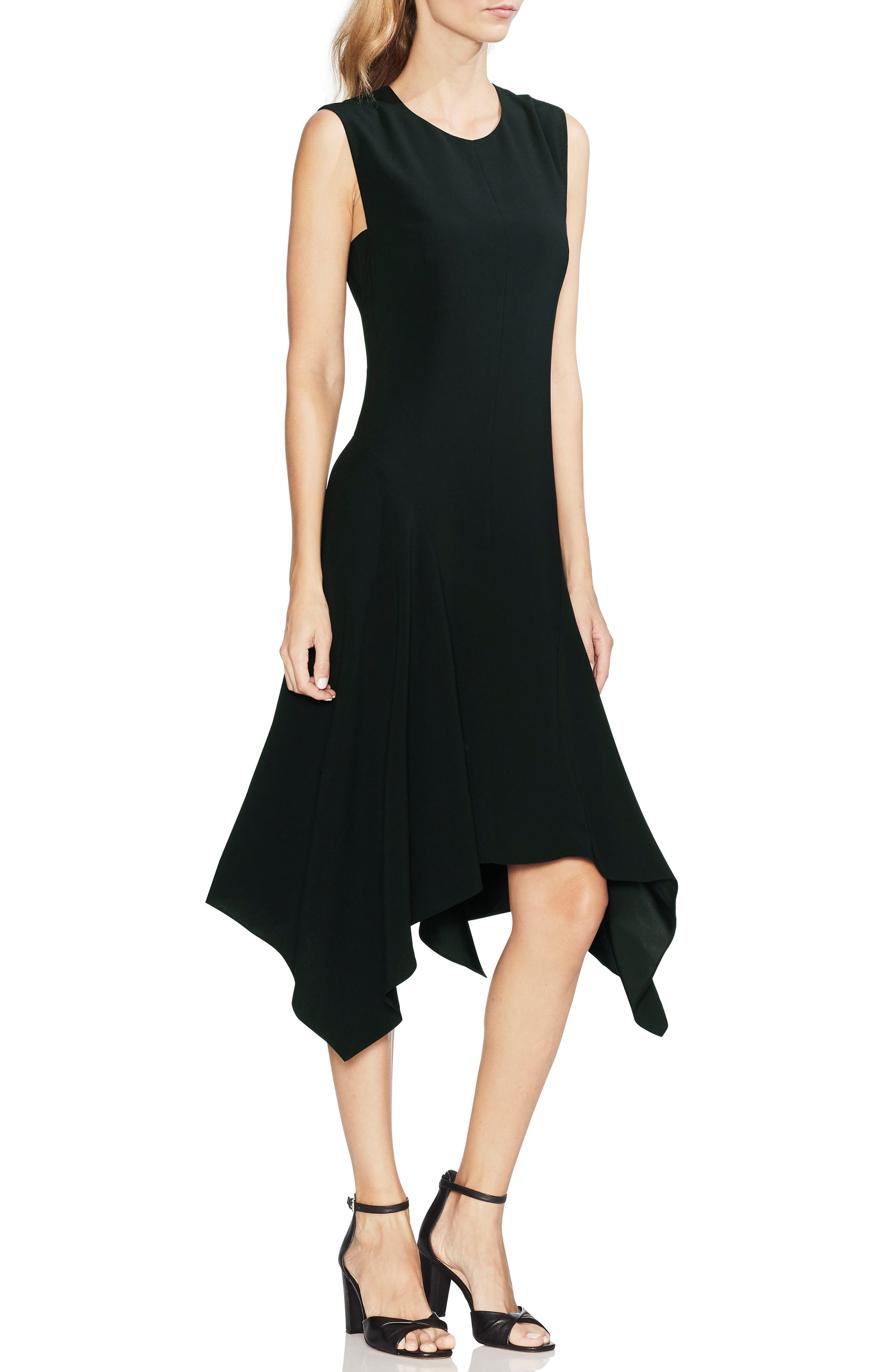 Vince Camuto Handkerchief Hem Dress, Black