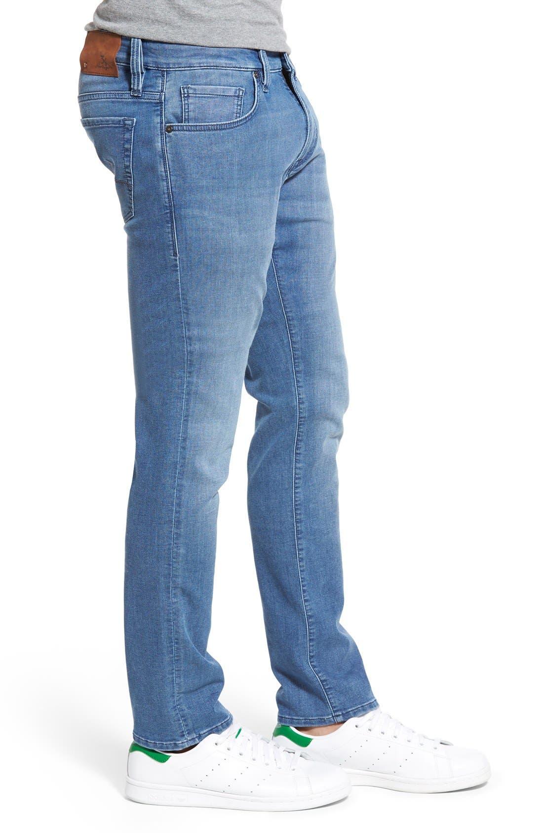 34 HERITAGE,                             'Courage' Straight Leg Jeans,                             Alternate thumbnail 4, color,                             LIGHT INDIGO SPORTY