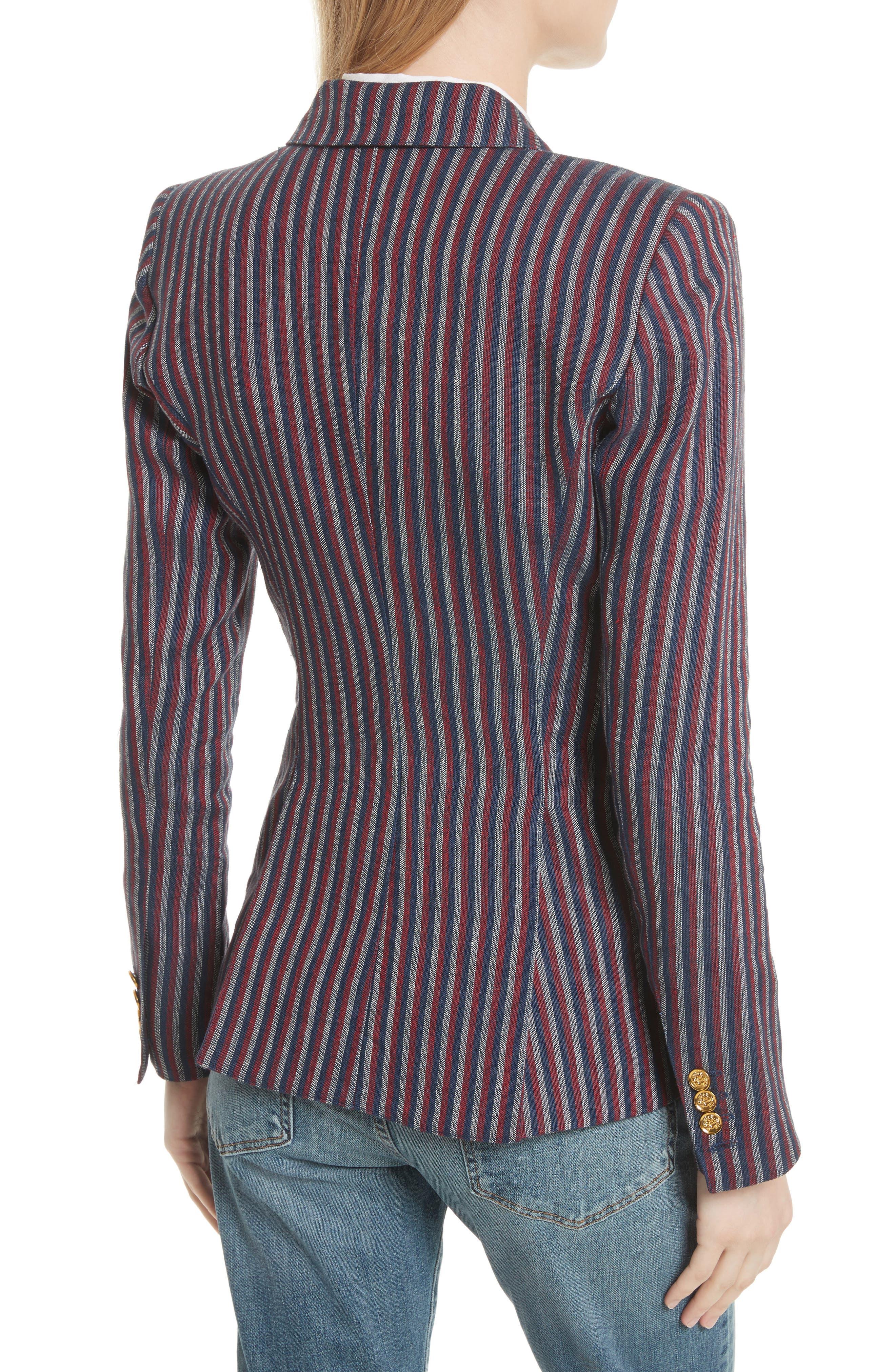 Stripe Cotton Blazer,                             Alternate thumbnail 2, color,                             607