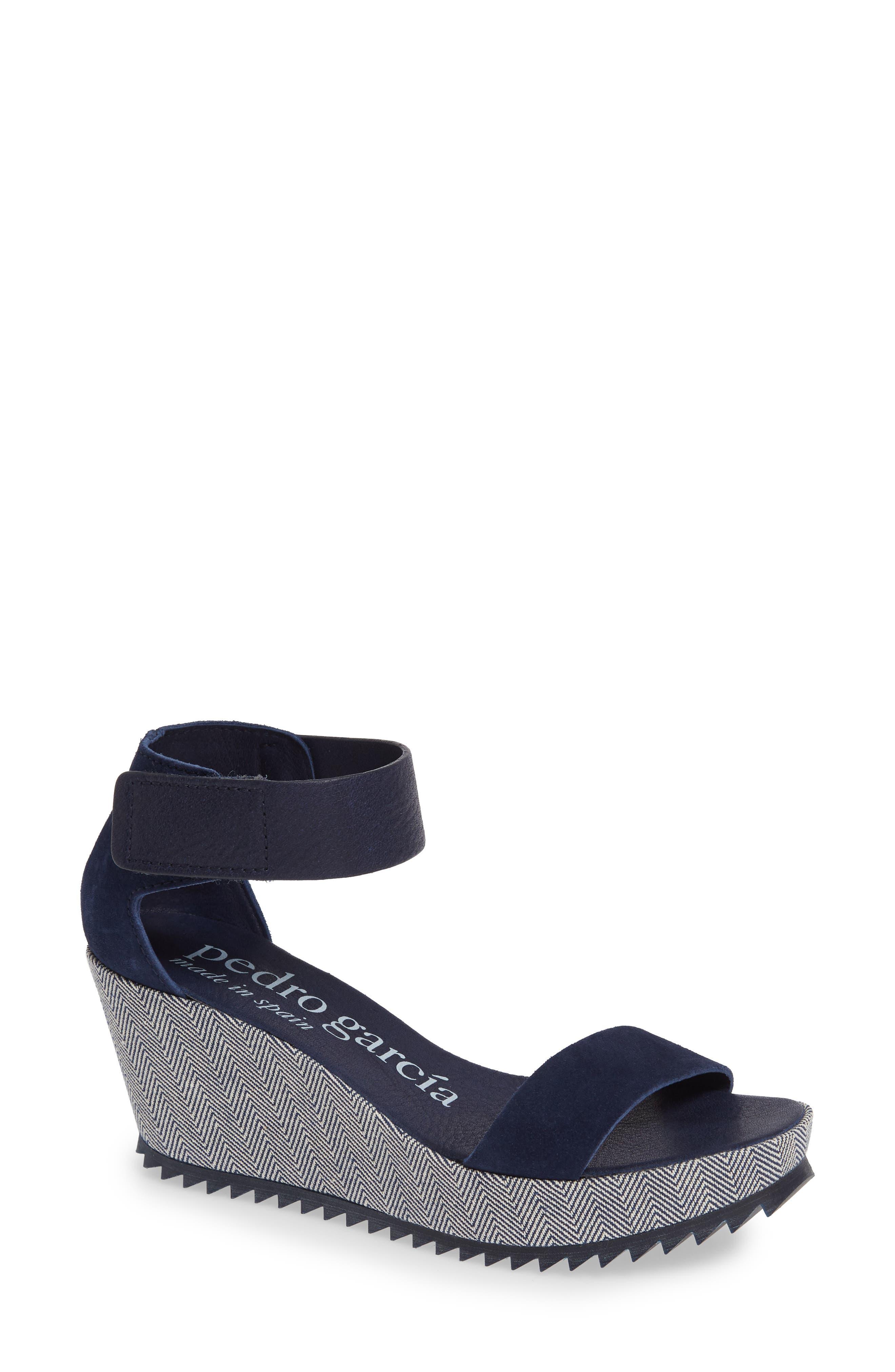 Fidelia Wedge Sandal,                         Main,                         color, MARINA CASTORO