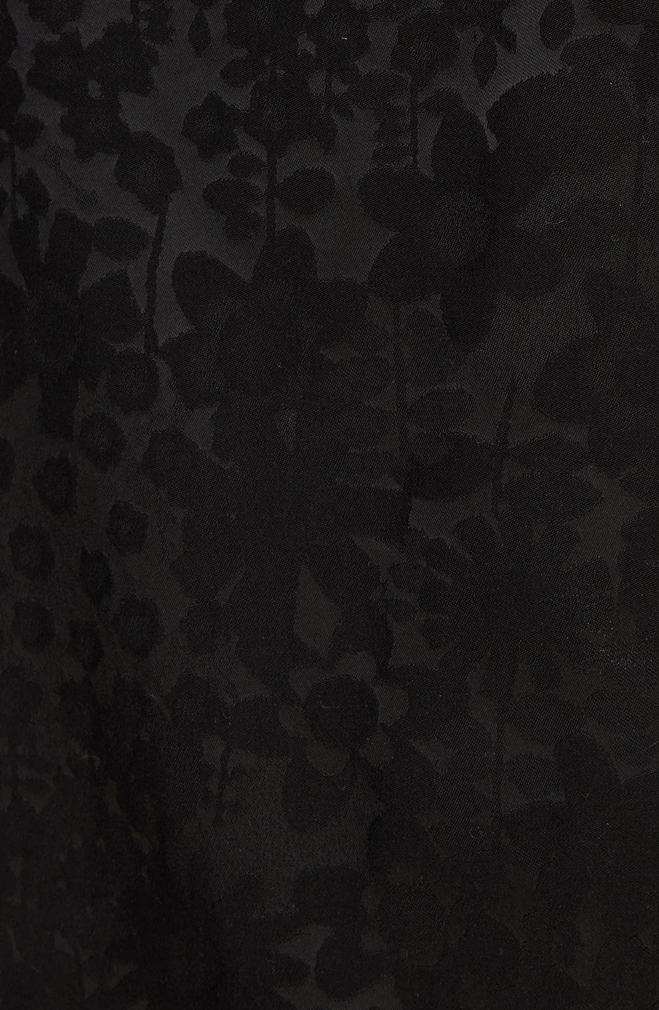 Danya Floral Asymmetrical Hem Dress,                             Alternate thumbnail 5, color,                             001